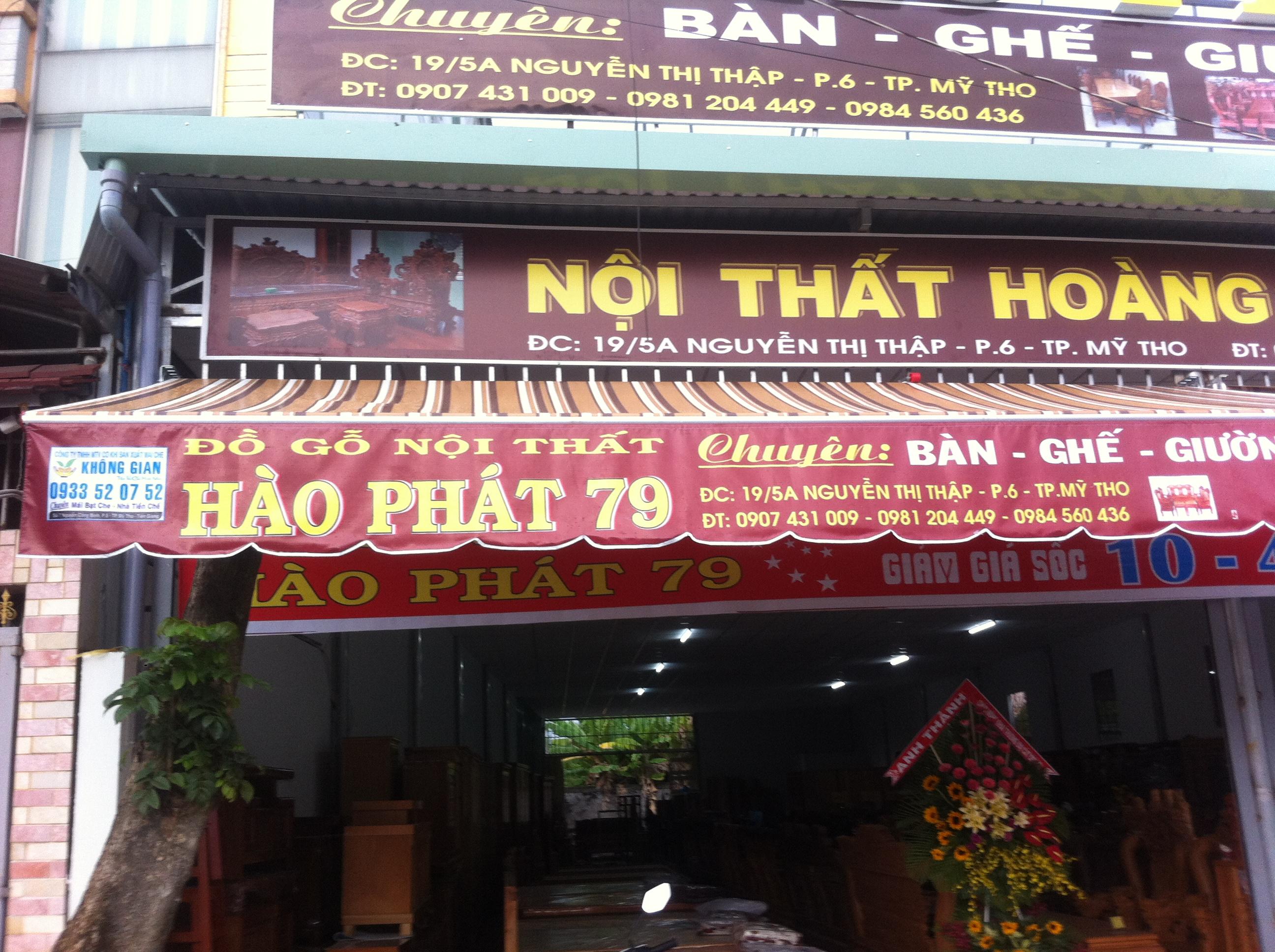 Mái Hiên Quảng Cáo Cửa Hàng Thị Xã Vĩnh Châu Sóc Trăng