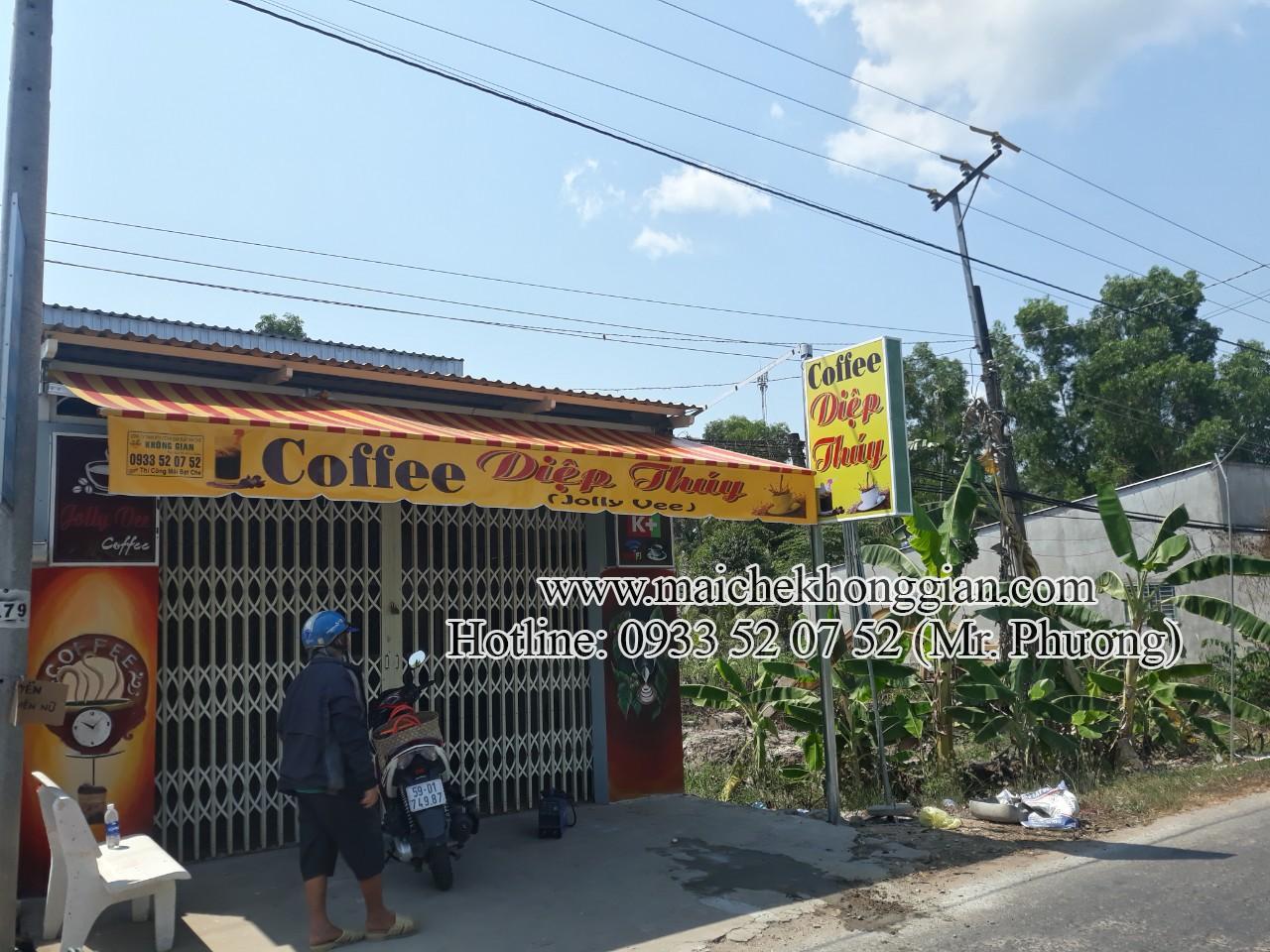 Mái Hiên Quảng Cáo Cửa Hàng Tân Phú Đông Tiền Giang