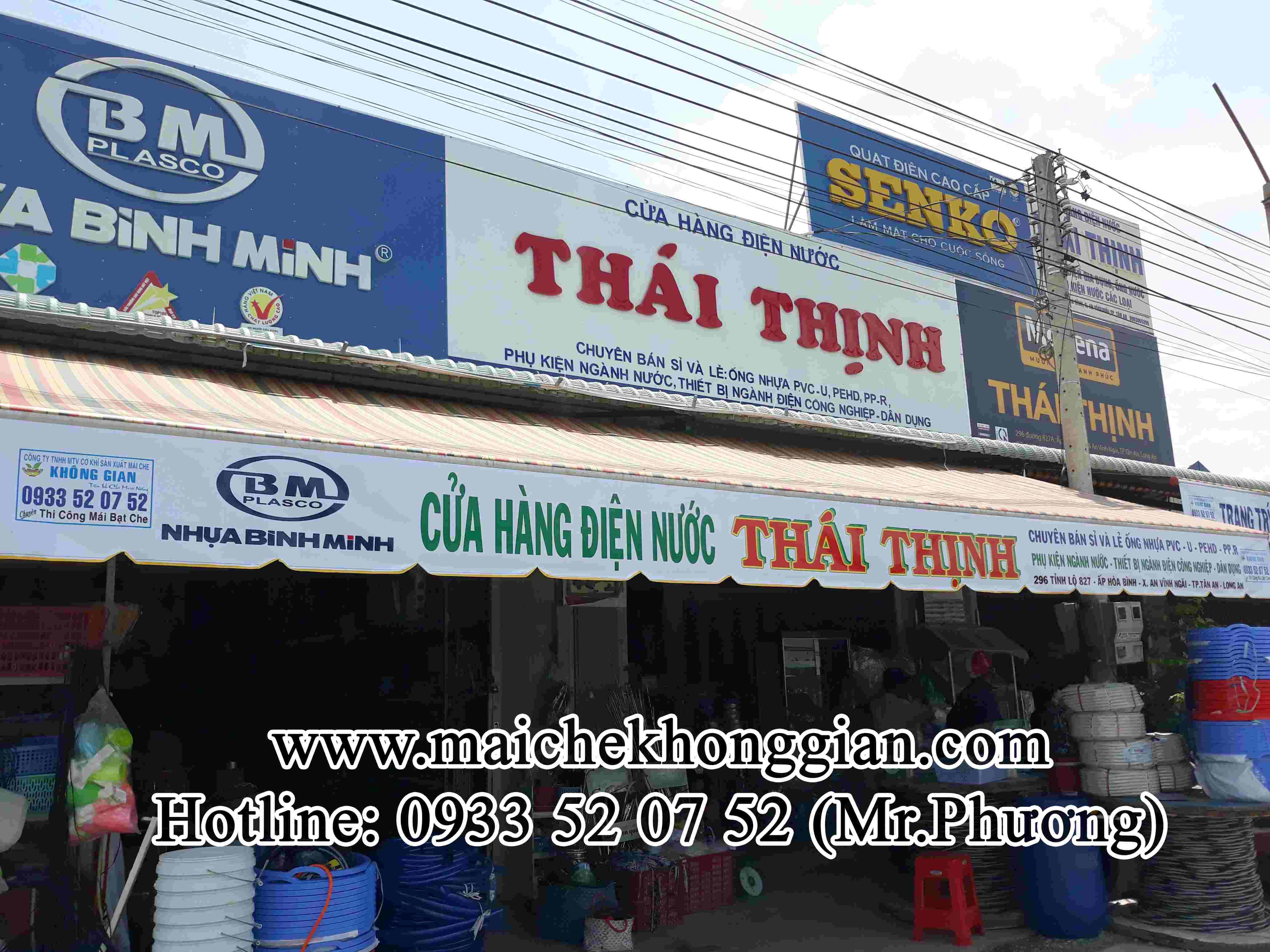 Mái Hiên Quảng Cáo Cửa Hàng Chợ Gạo Tiền Giang