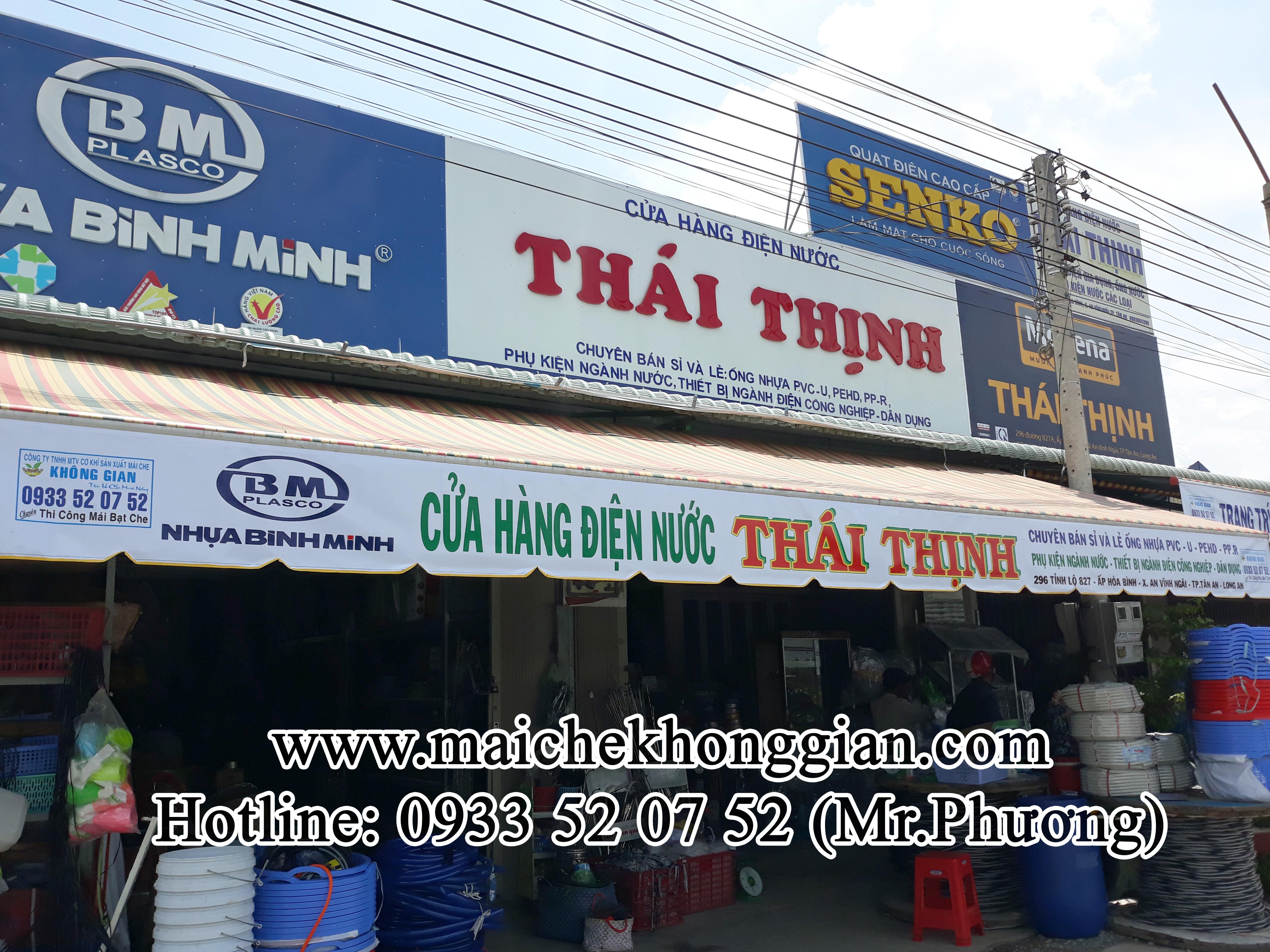 Mái Hiên Quảng Cáo Cửa Hàng Huyện Mang Thít Vĩnh Long