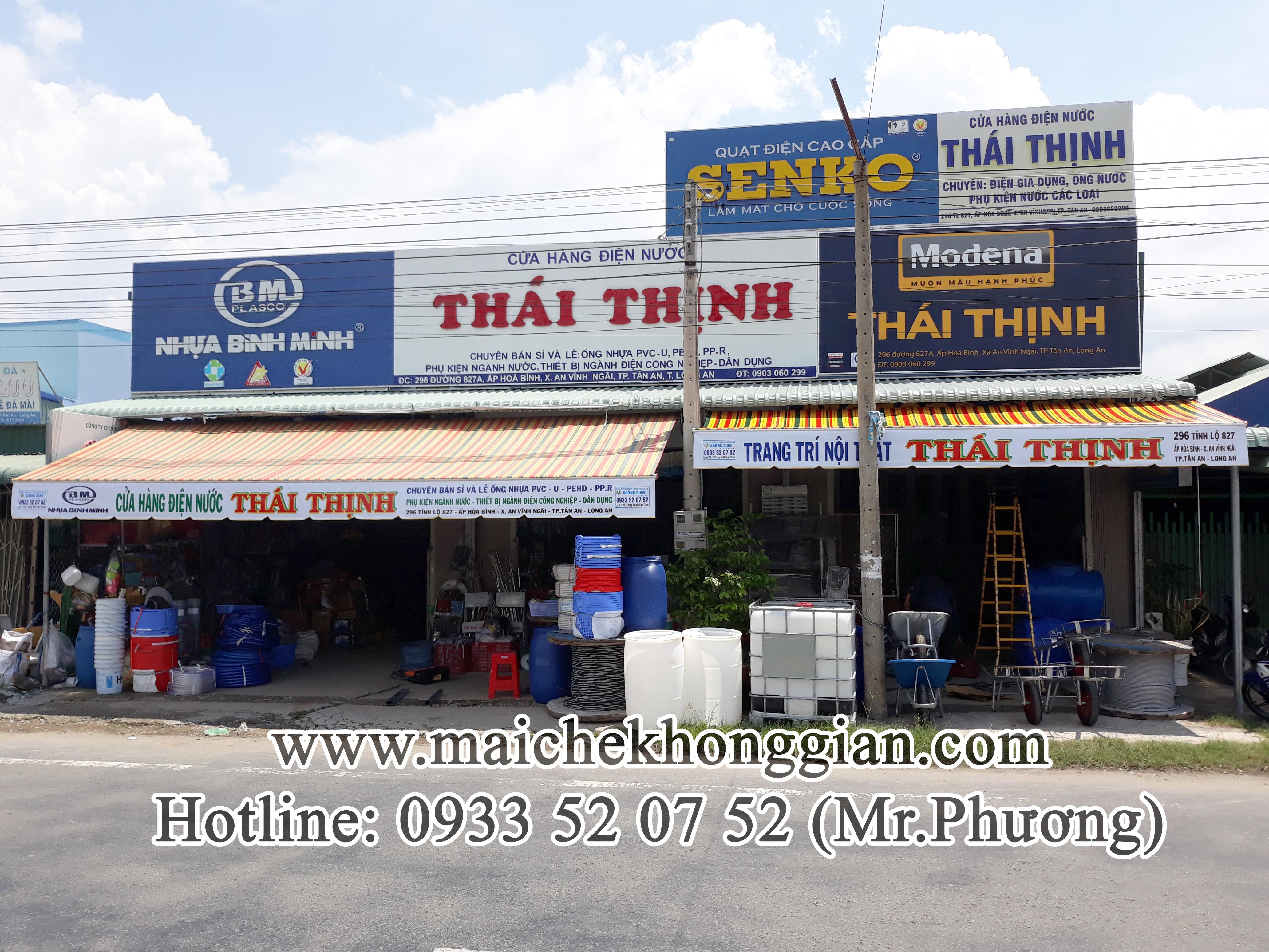 Mái Hiên Quảng Cáo Cửa Hàng Thành Phố Sóc Trăng