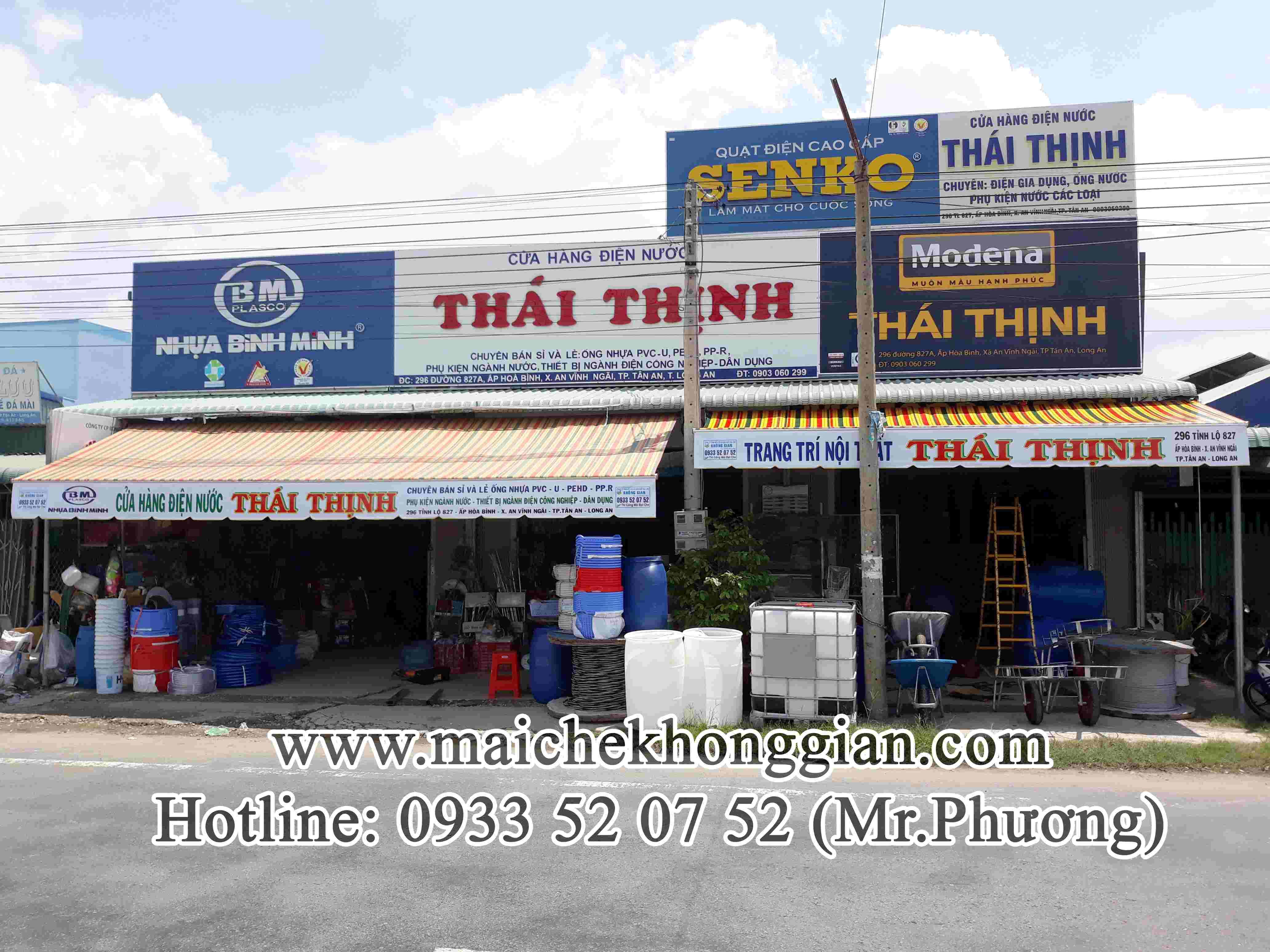 Mái Hiên Quảng Cáo Cửa Hàng Cai Lậy Tiền Giang