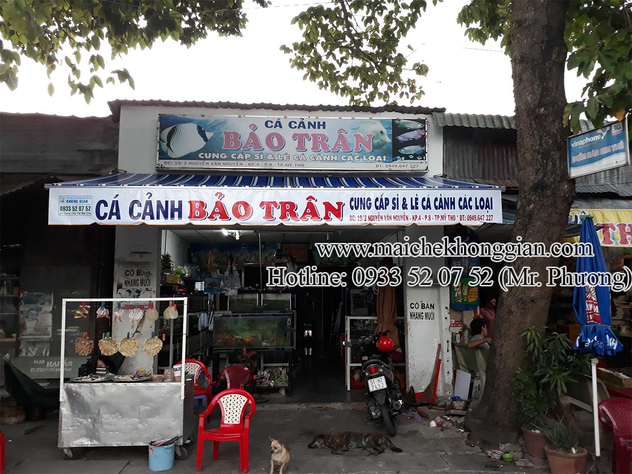 Lắp Đặt Mái Hiên Thị Xã Vĩnh Châu Sóc Trăng.