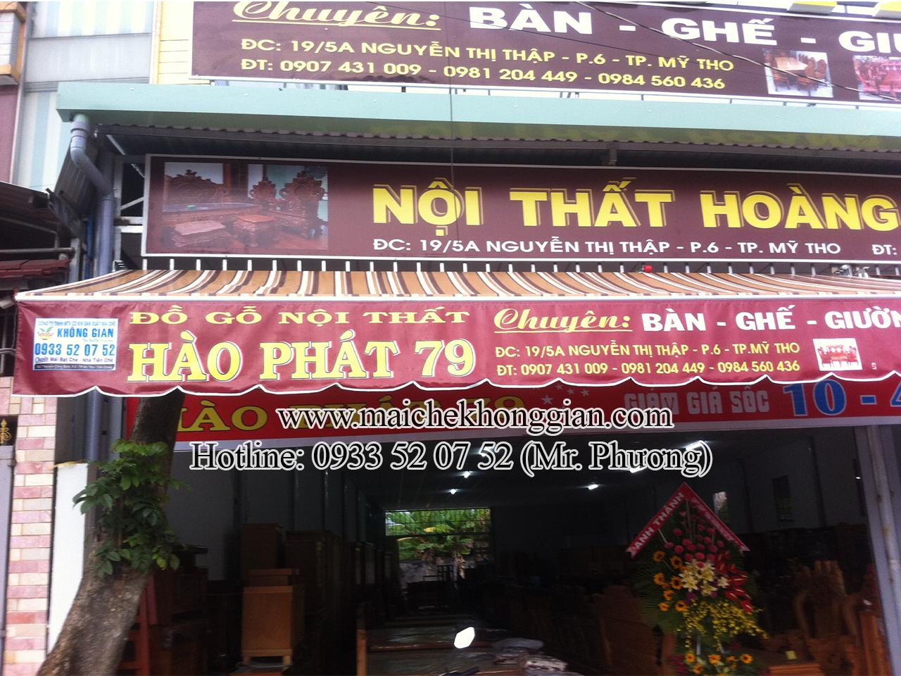 Mái Hiên Quảng Cáo Của Hàng Thạnh Hóa Long An.