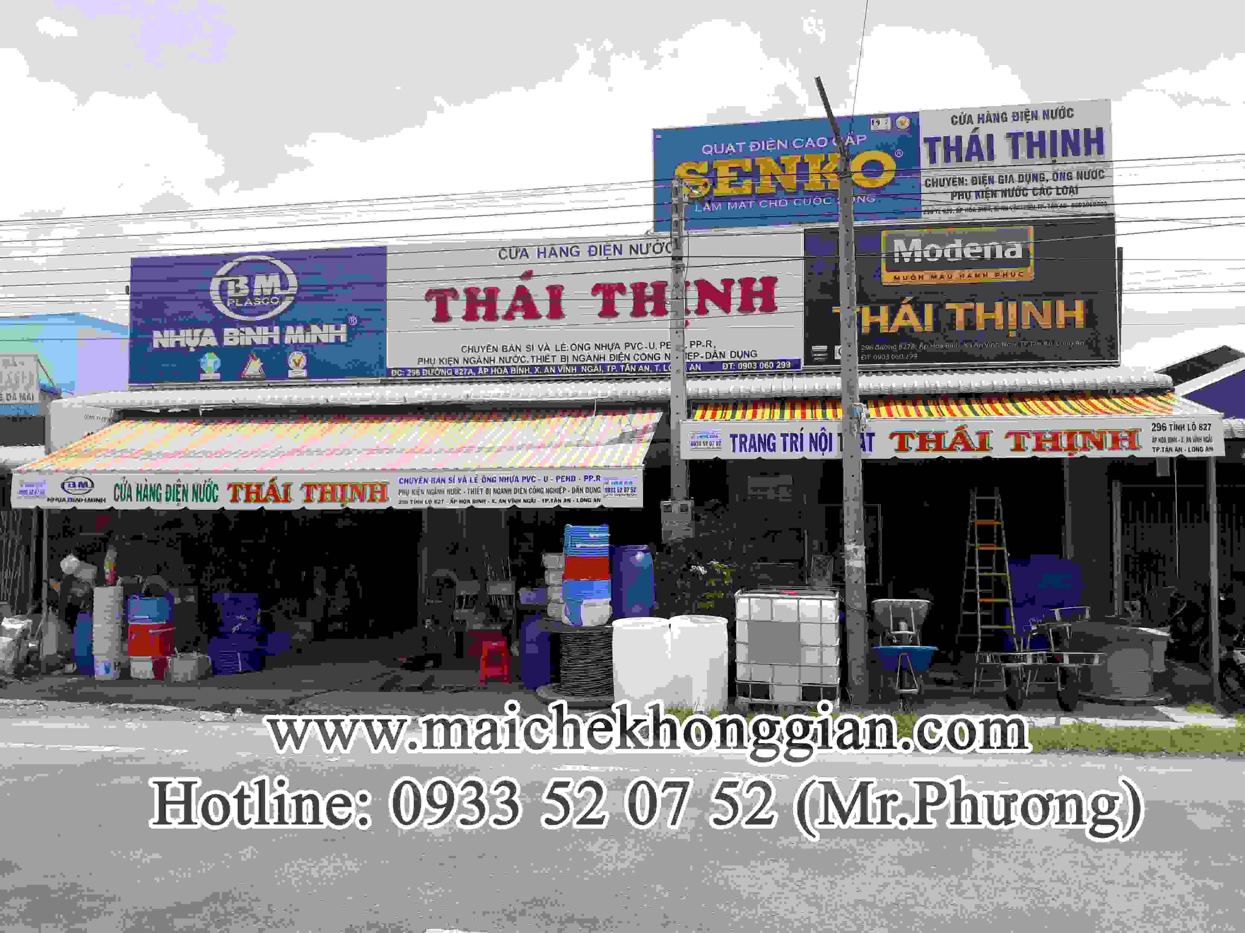 Mái Hiên Quảng Cáo Cửa Hàng Thị Xã Ngã Bảy Hậu Giang
