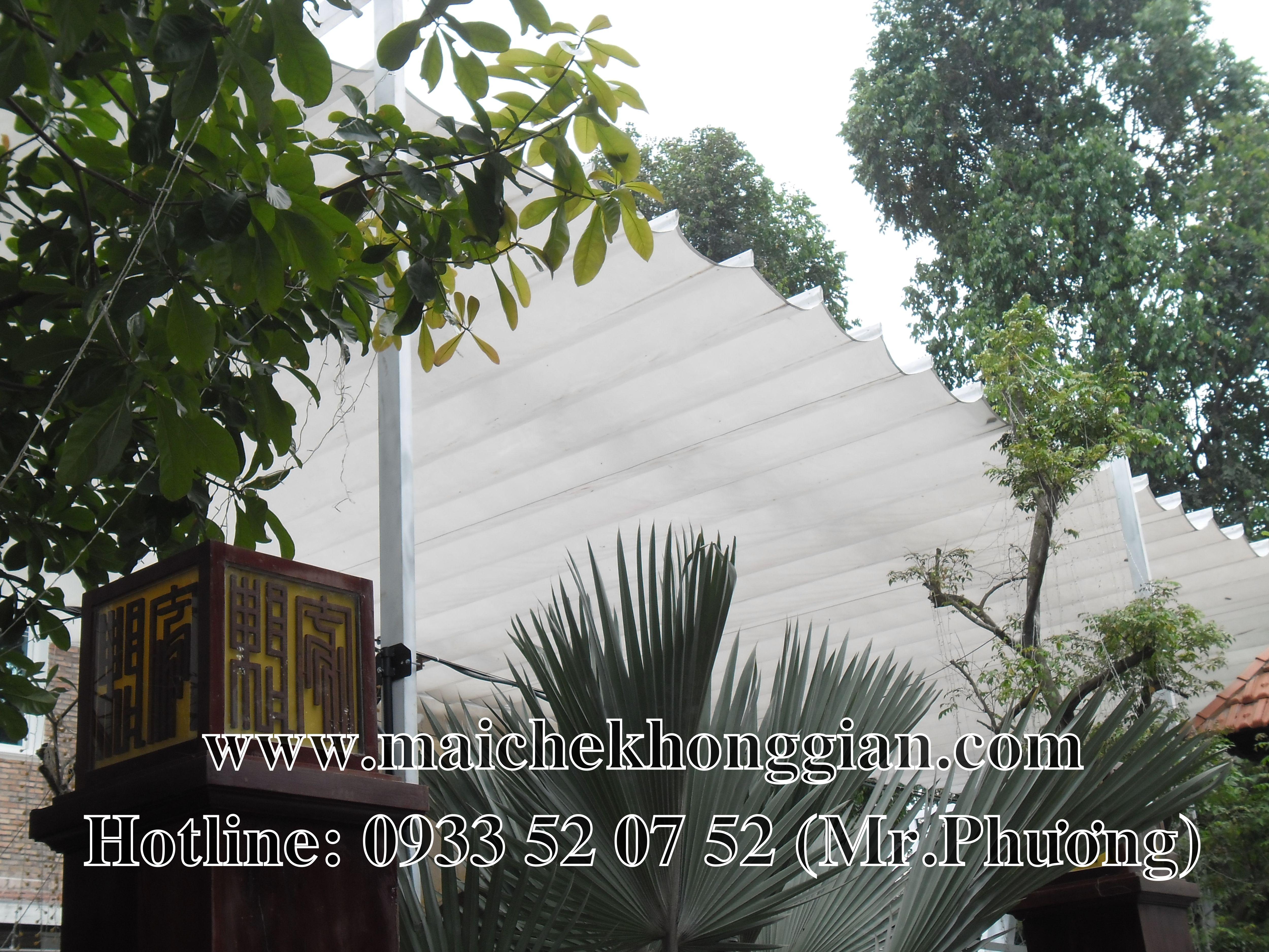 Mái che nhà hàng Vĩnh Hưng Long An