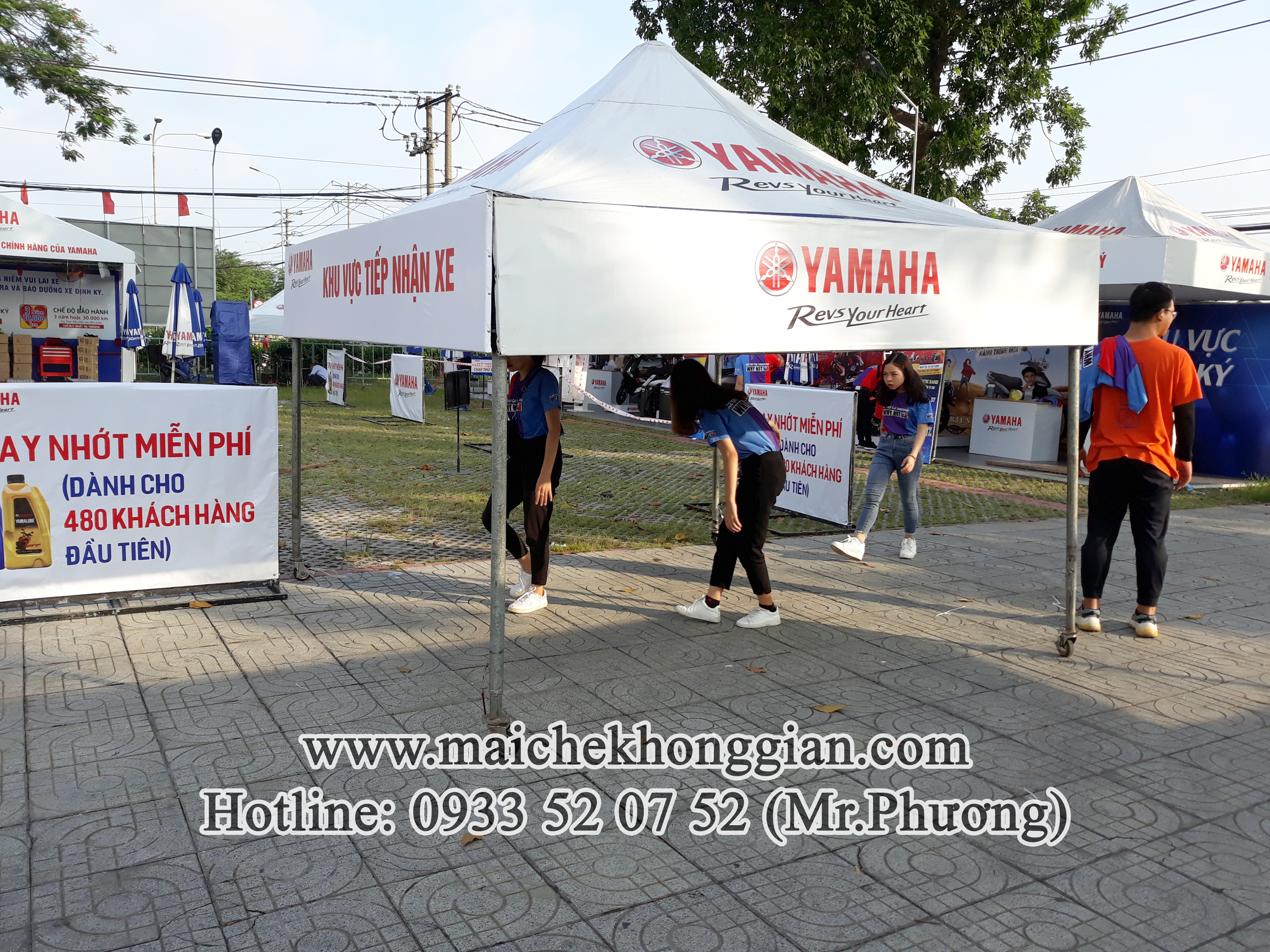 Mái bạt di động Chợ Gạo Tiền Giang
