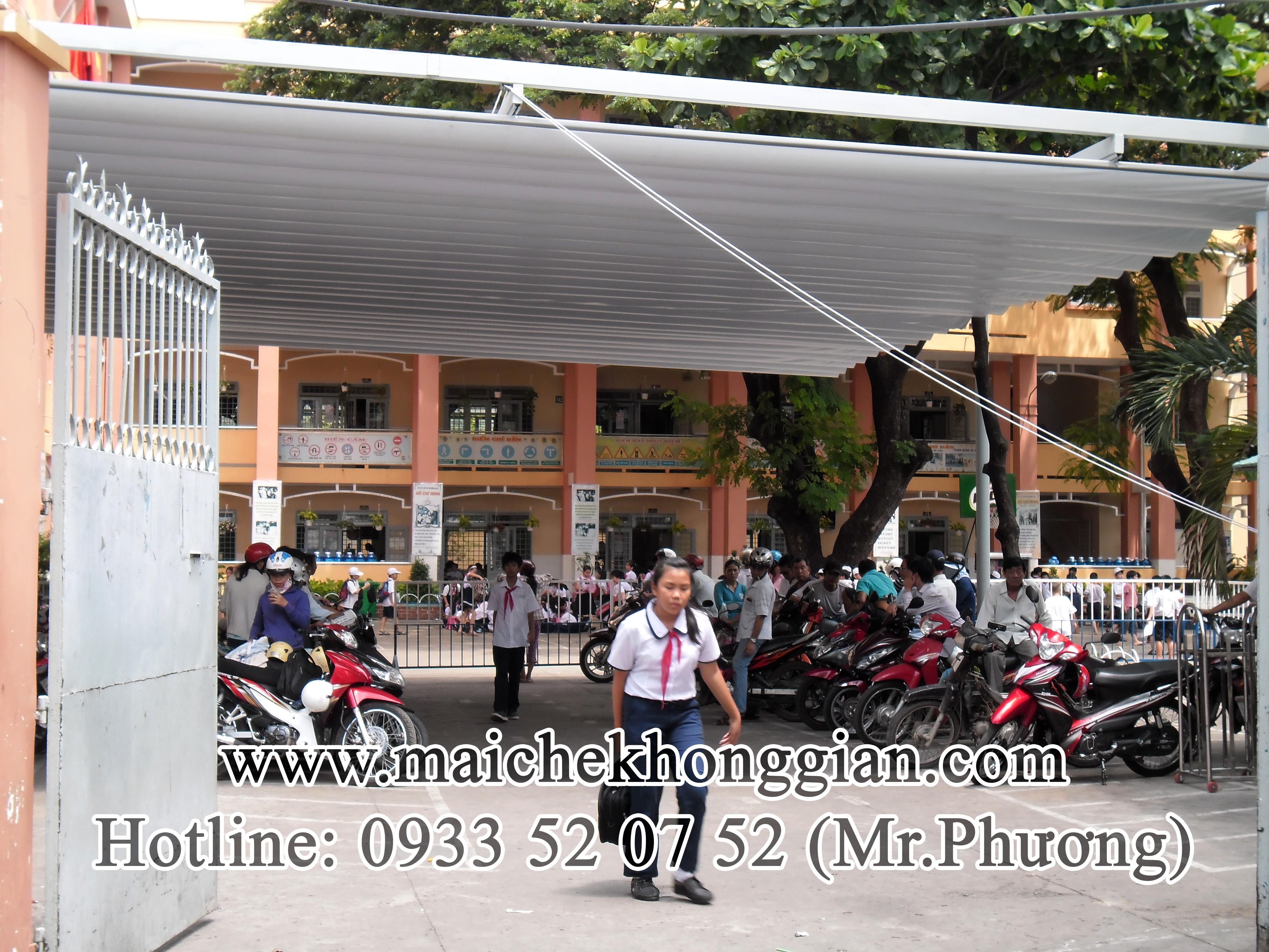Mái Che Sân Trường Quận Ô Môn Cần Thơ.