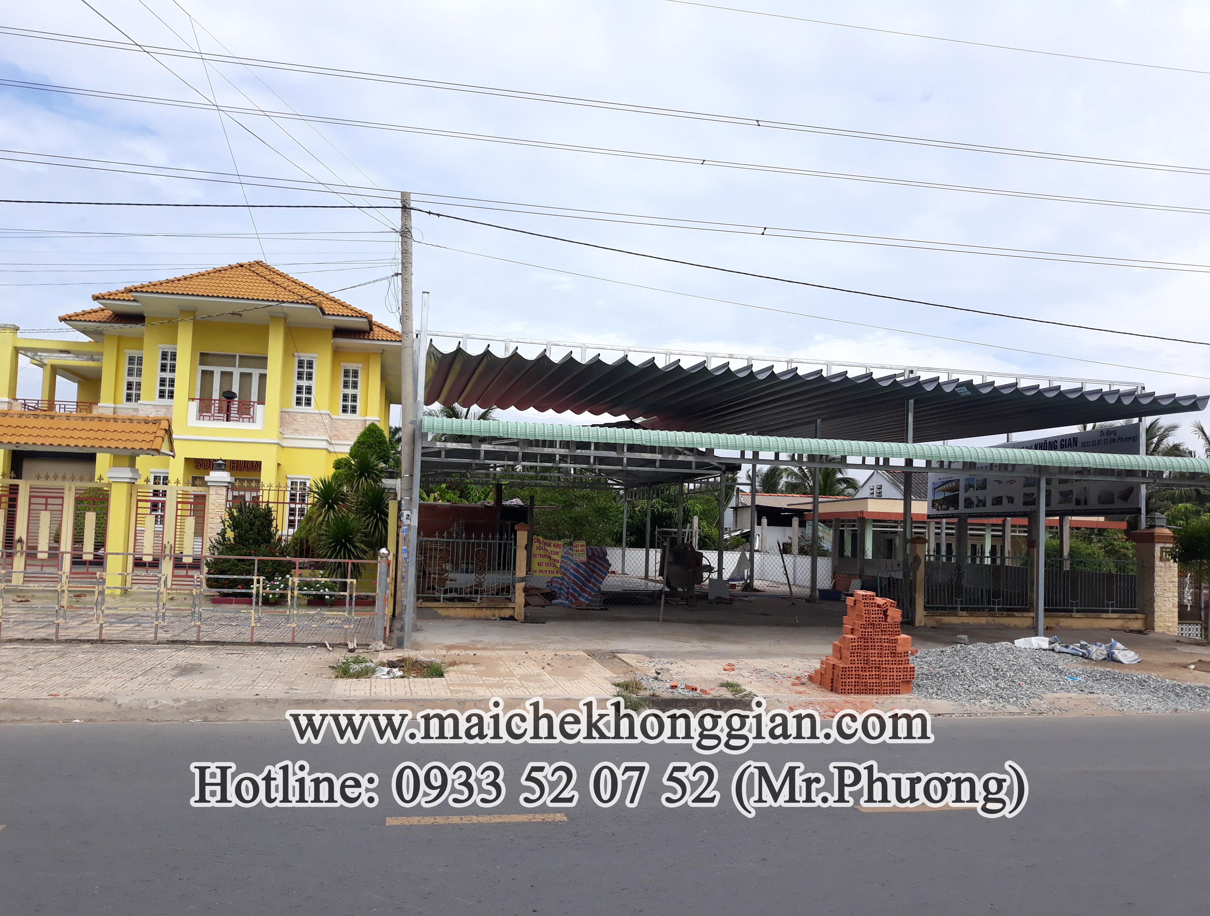 Thay bạt mái che Chợ Gạo Tiền Giang