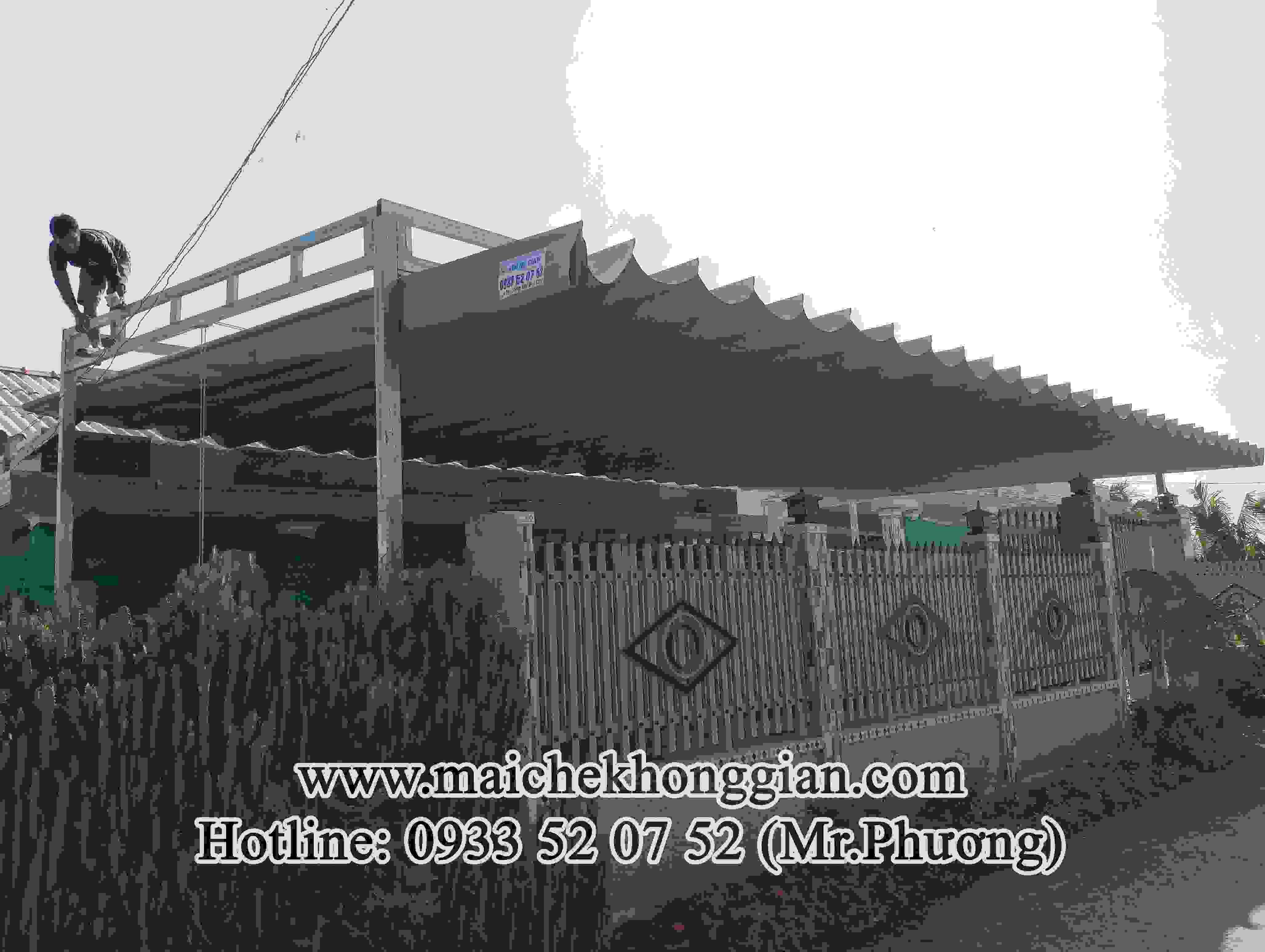 Mái Che Hiên Nhà Huyện Long Mỹ Hậu Giang