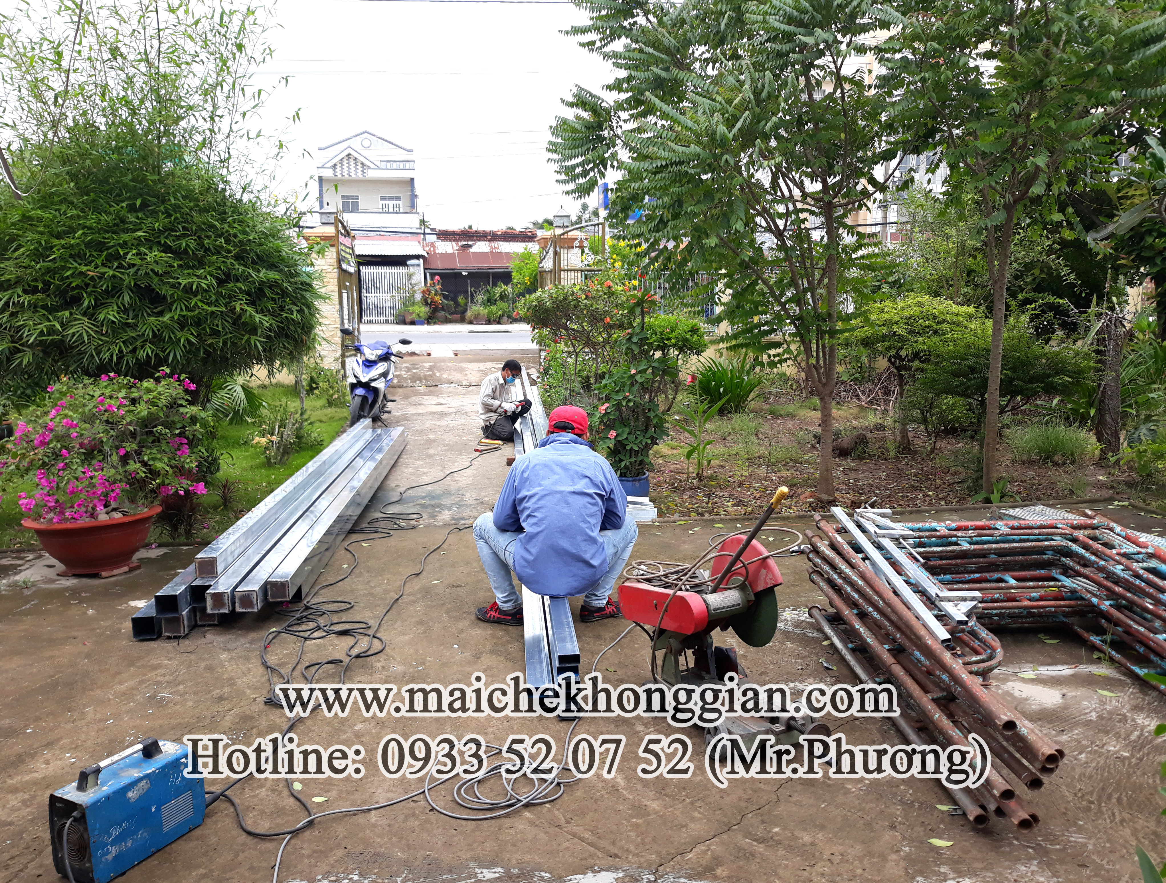 Mái Che Sân Nhà Huyện Phong Điền Cần Thơ