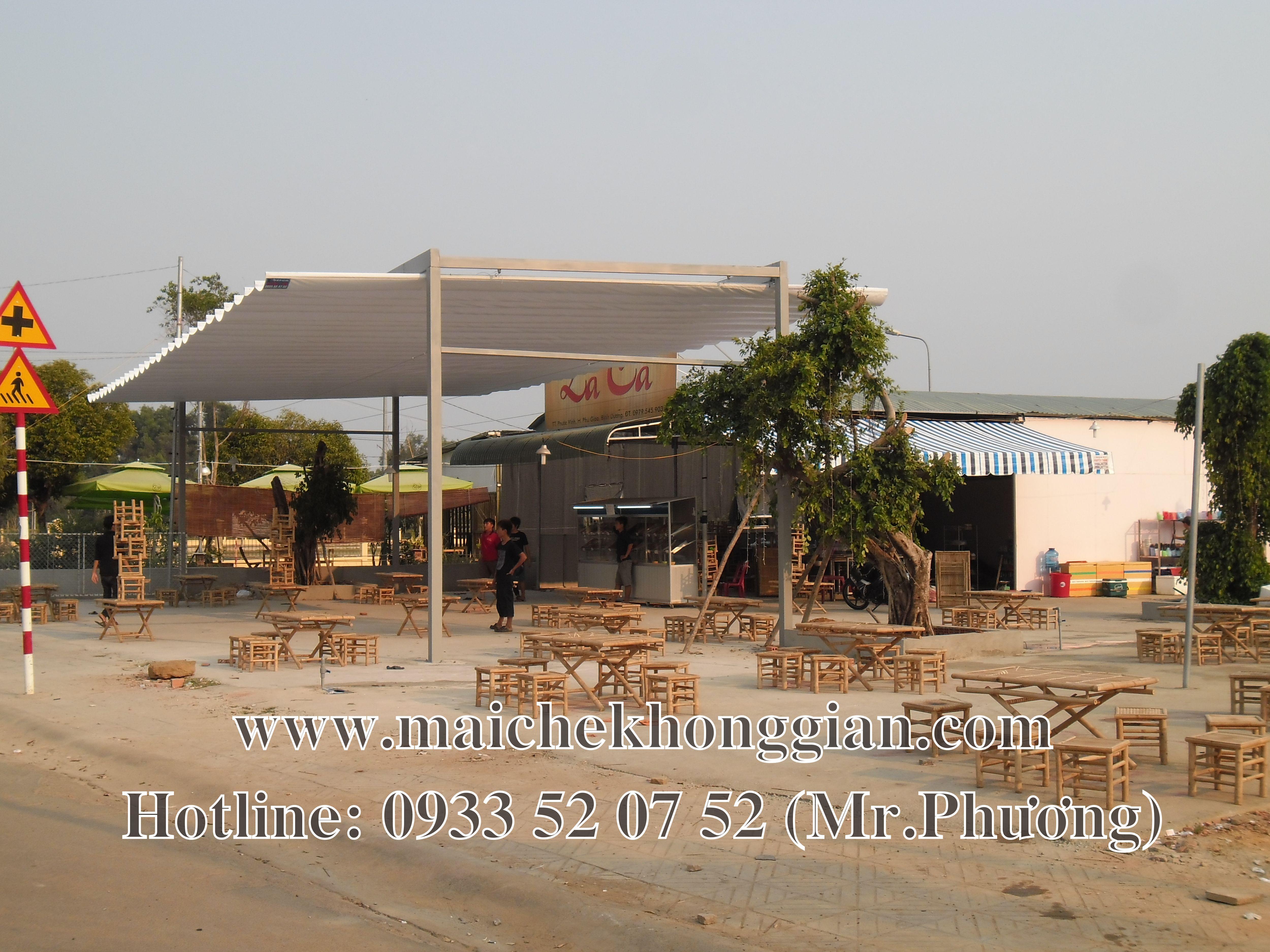 Mái che quán ăn Vĩnh Hưng Long An