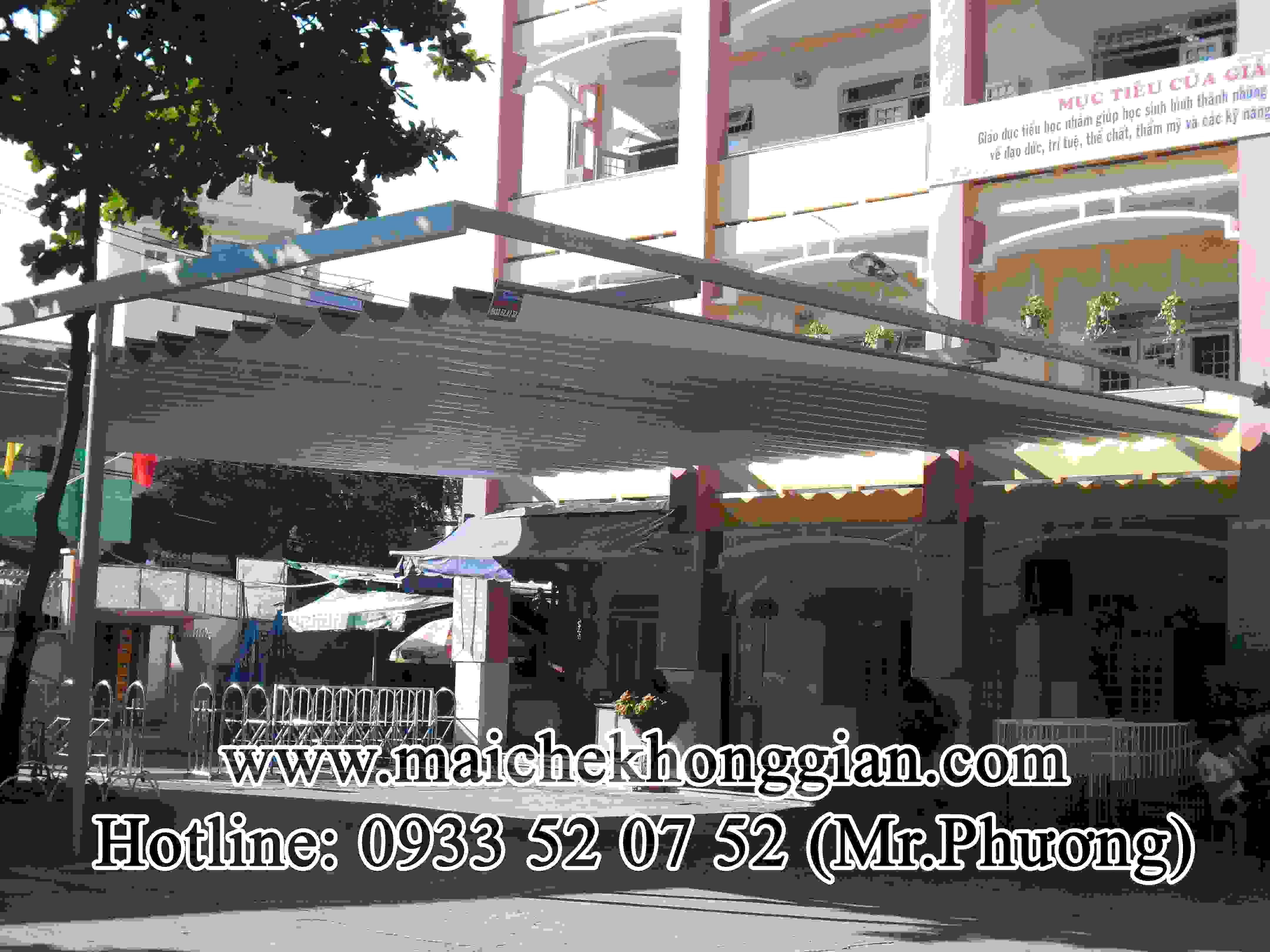 Mái Che Sân Trường Thị Xã Long Mỹ Hậu Giang