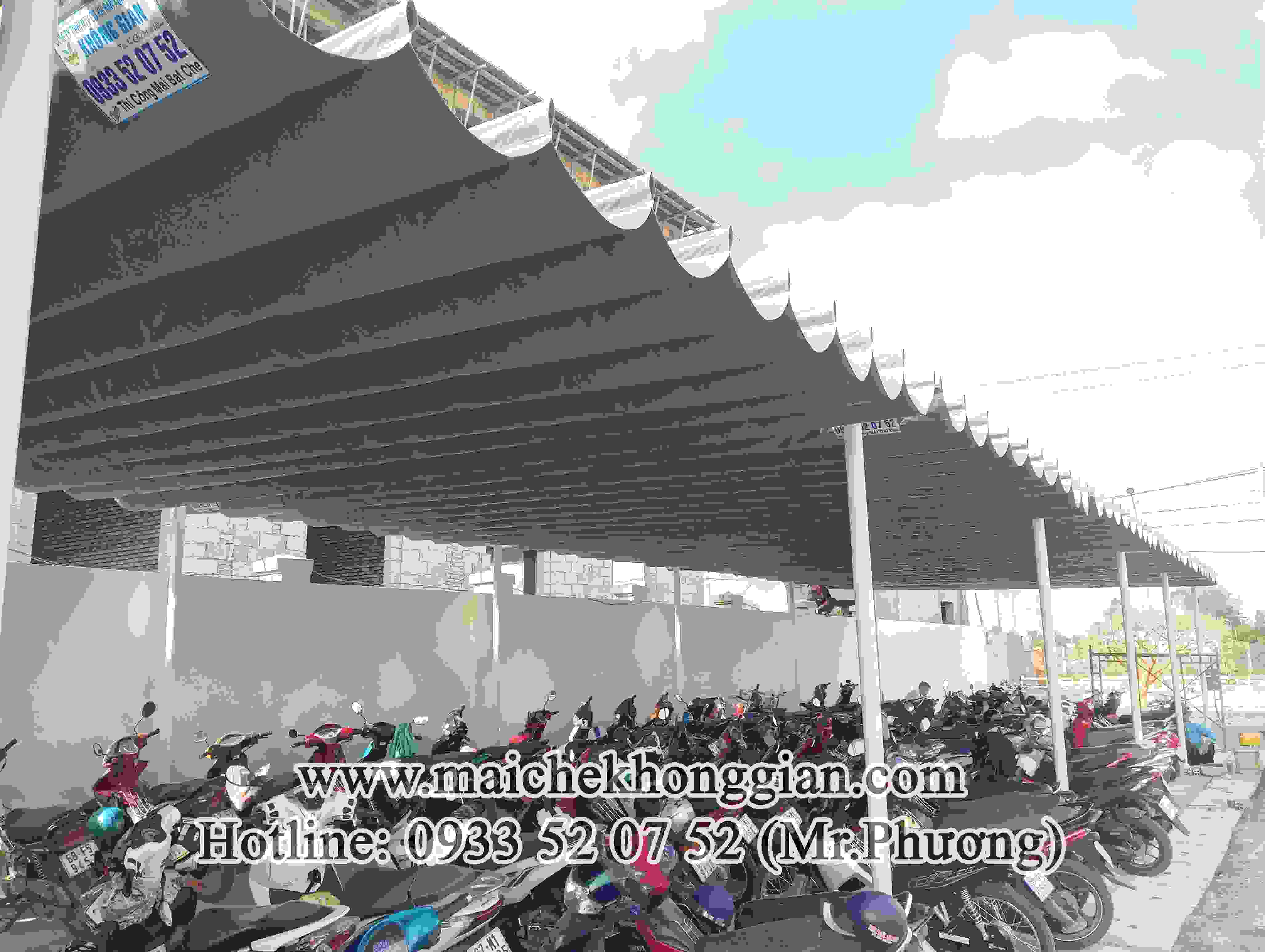 Mái Che Giữ Xe Thị Xã Ngã Bảy Hậu Giang