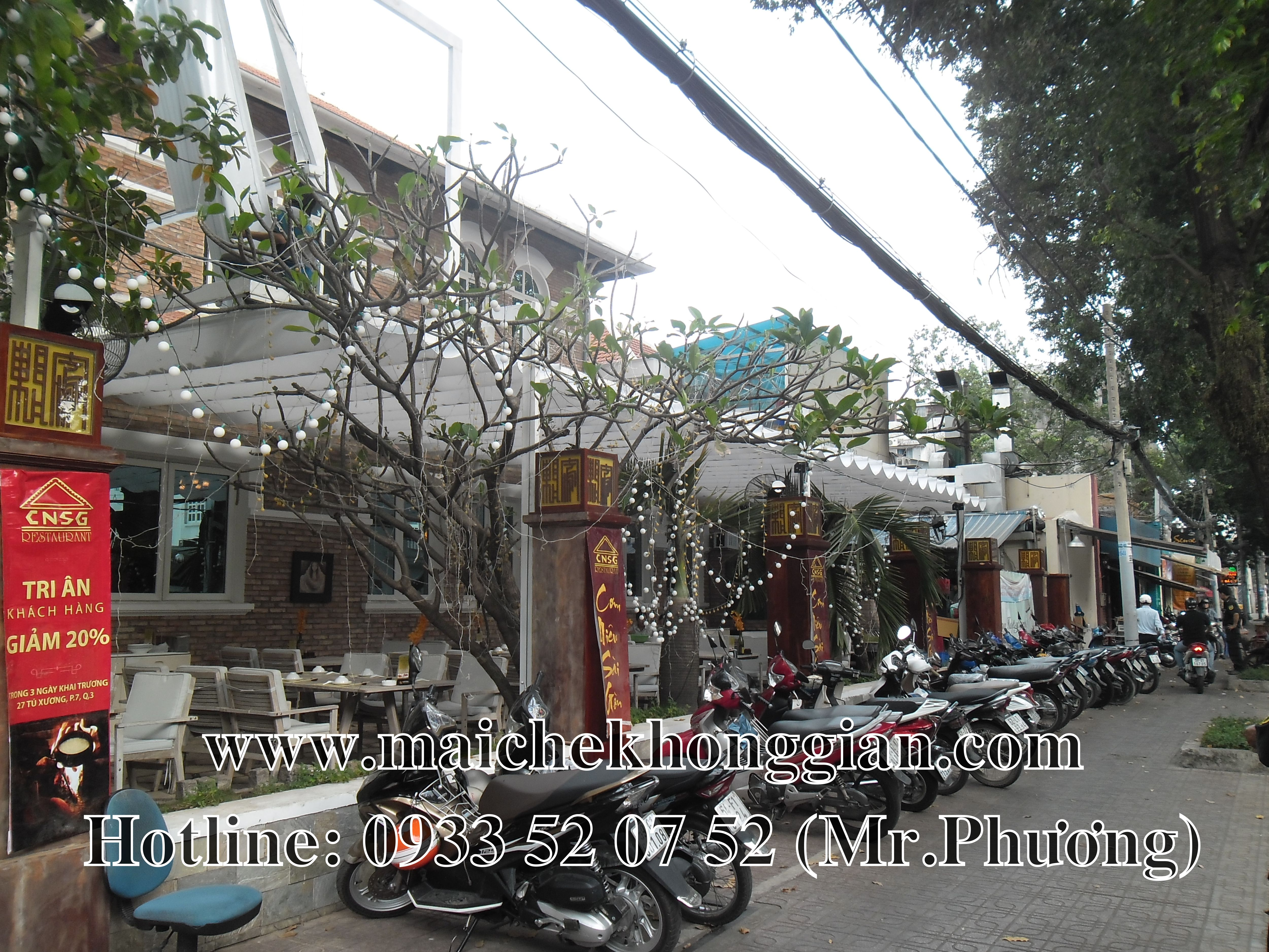 Mái che nhà hàng Tân an Long An