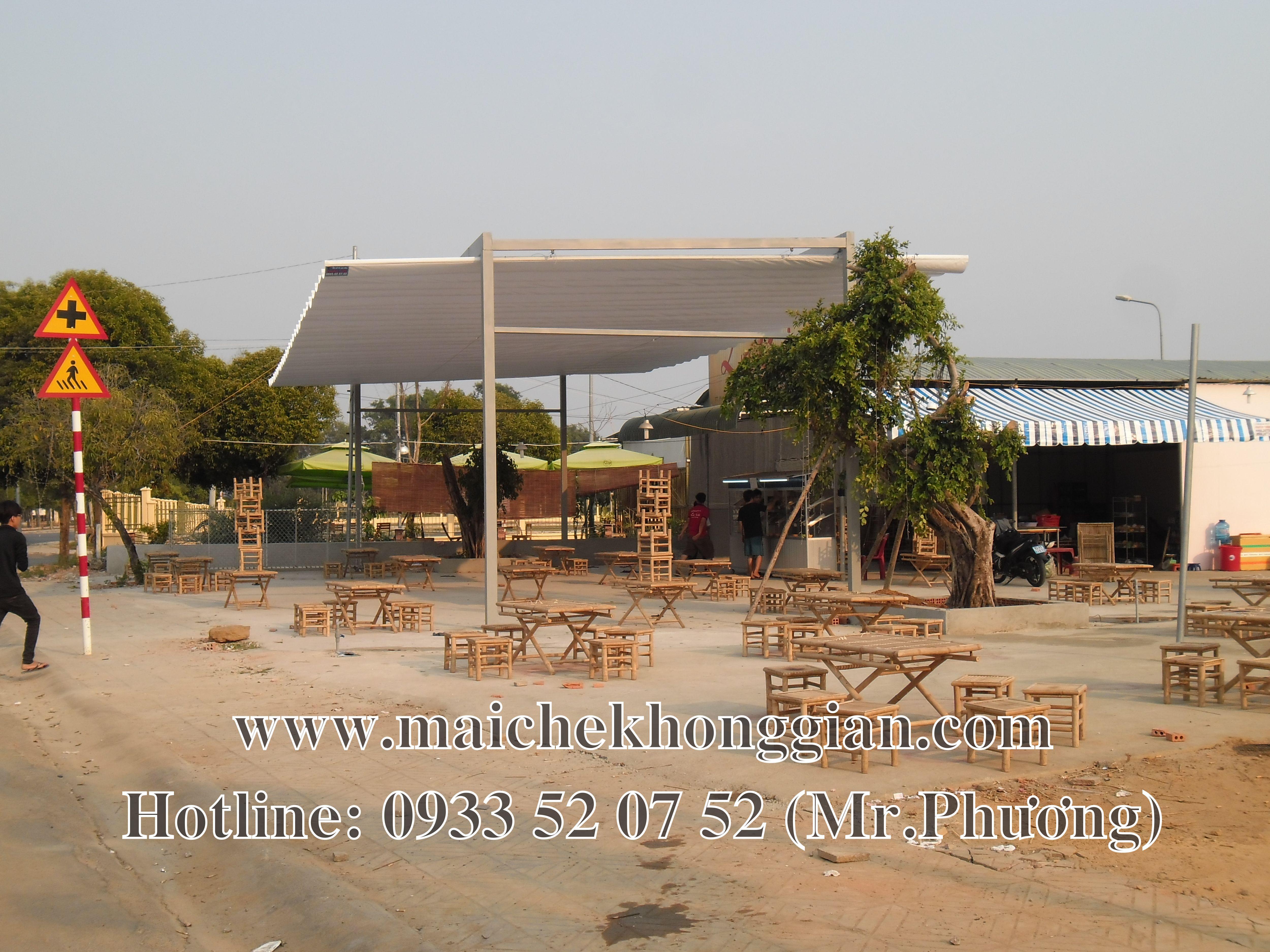 Mái che quán ăn Tân Trụ Long An