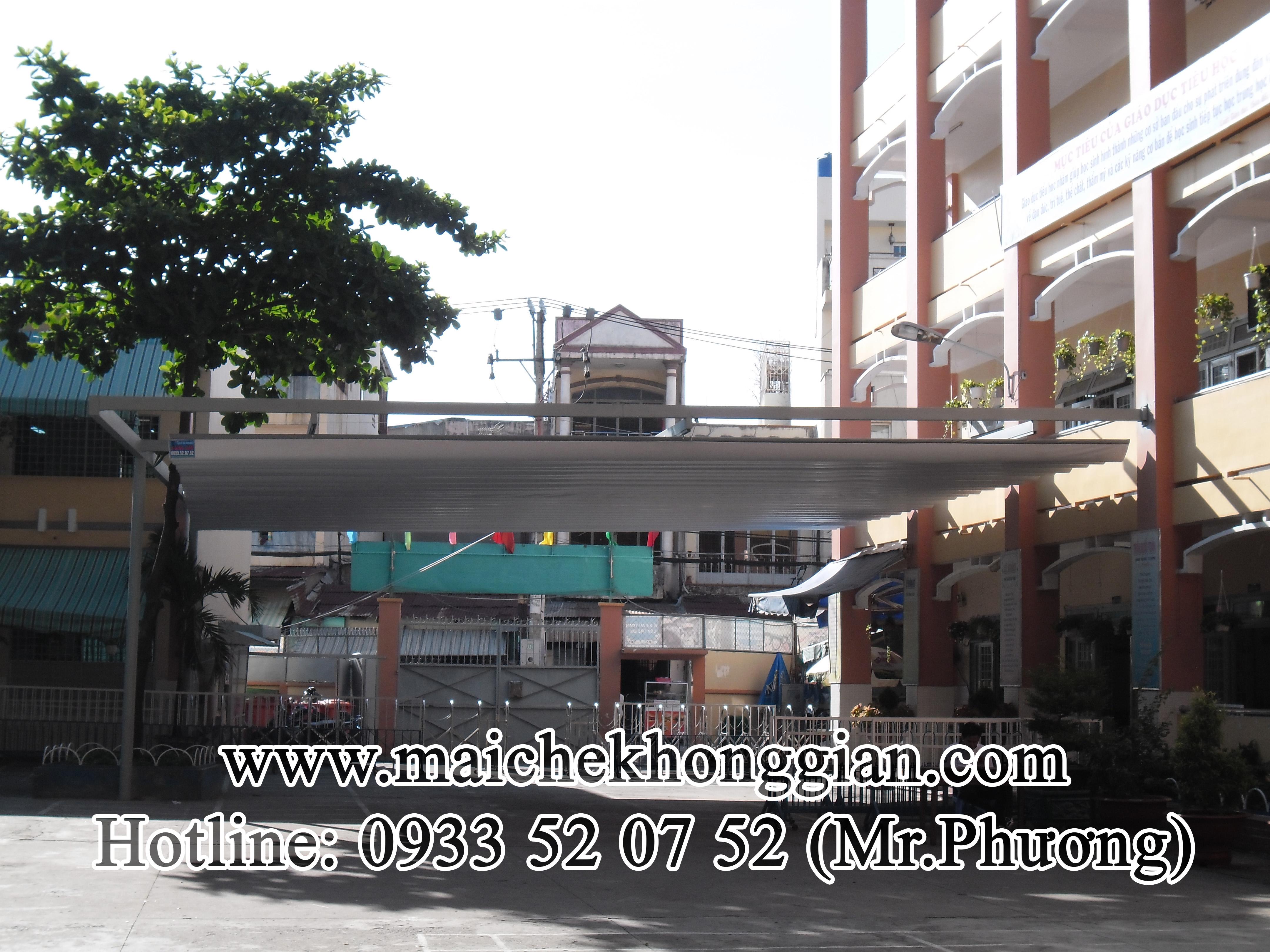 Mái Che Sân Trường Thạnh Phú Bến Tre