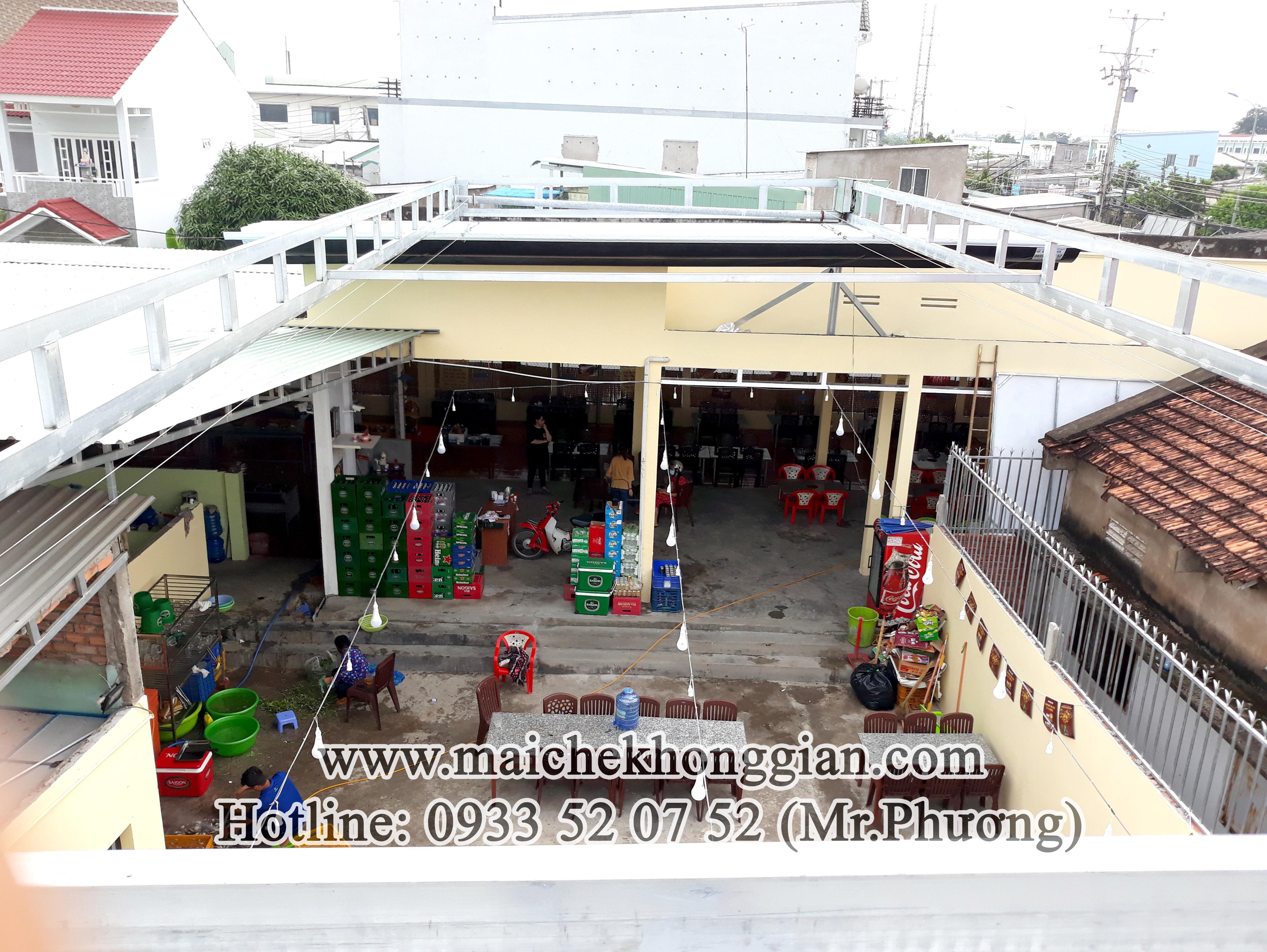 Mái che nhà hàng Châu Thành Long An