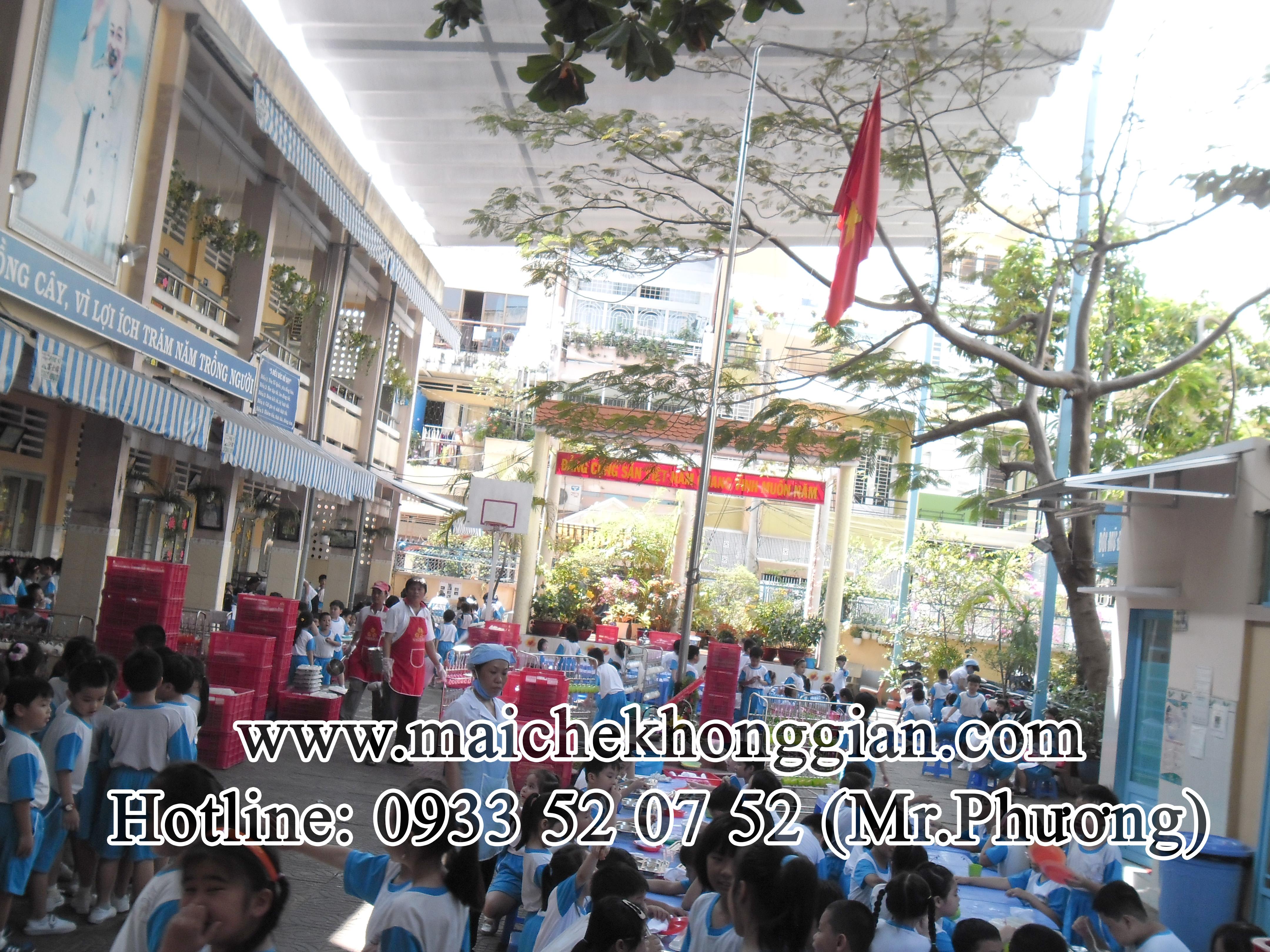 Mái che trường học Tân Hưng Long An