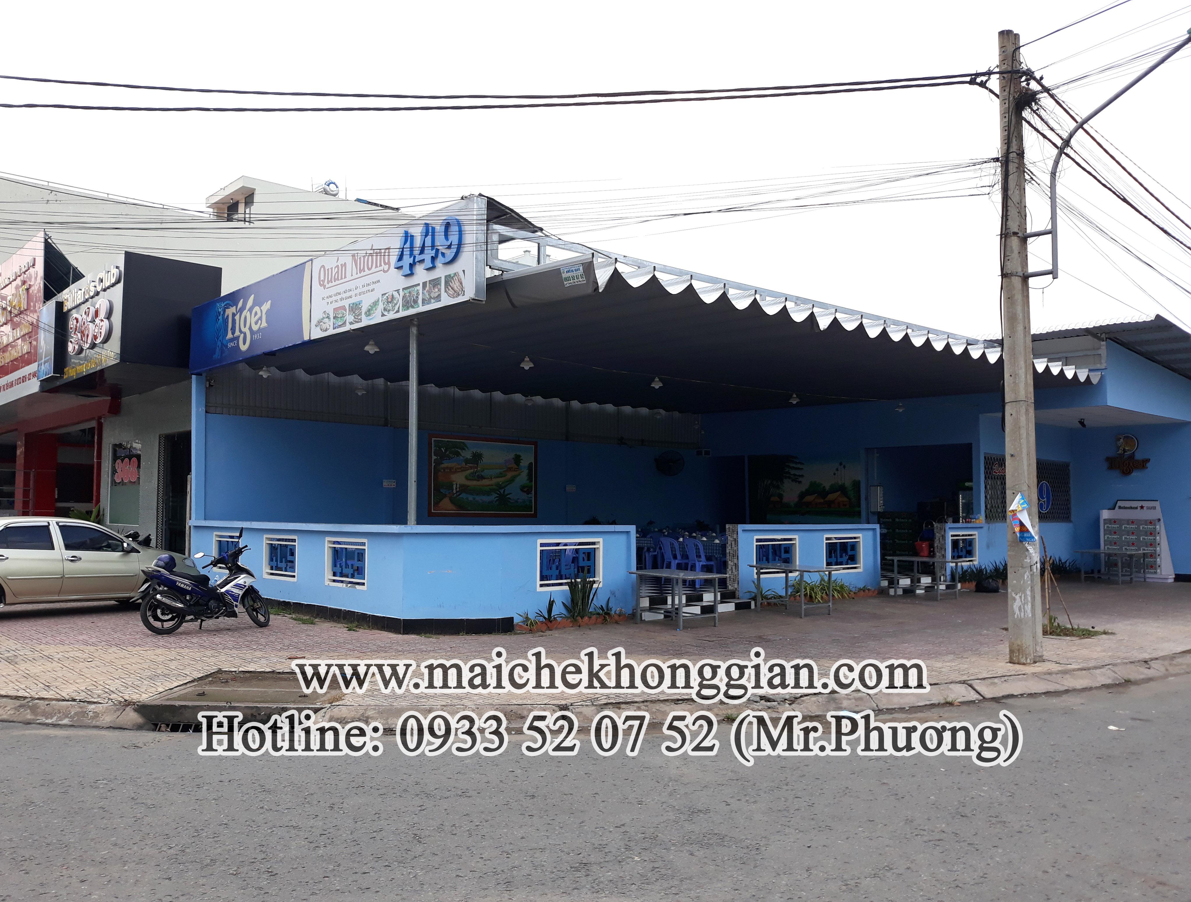Thay bạt mái che thị xã Bình Minh Vĩnh Long
