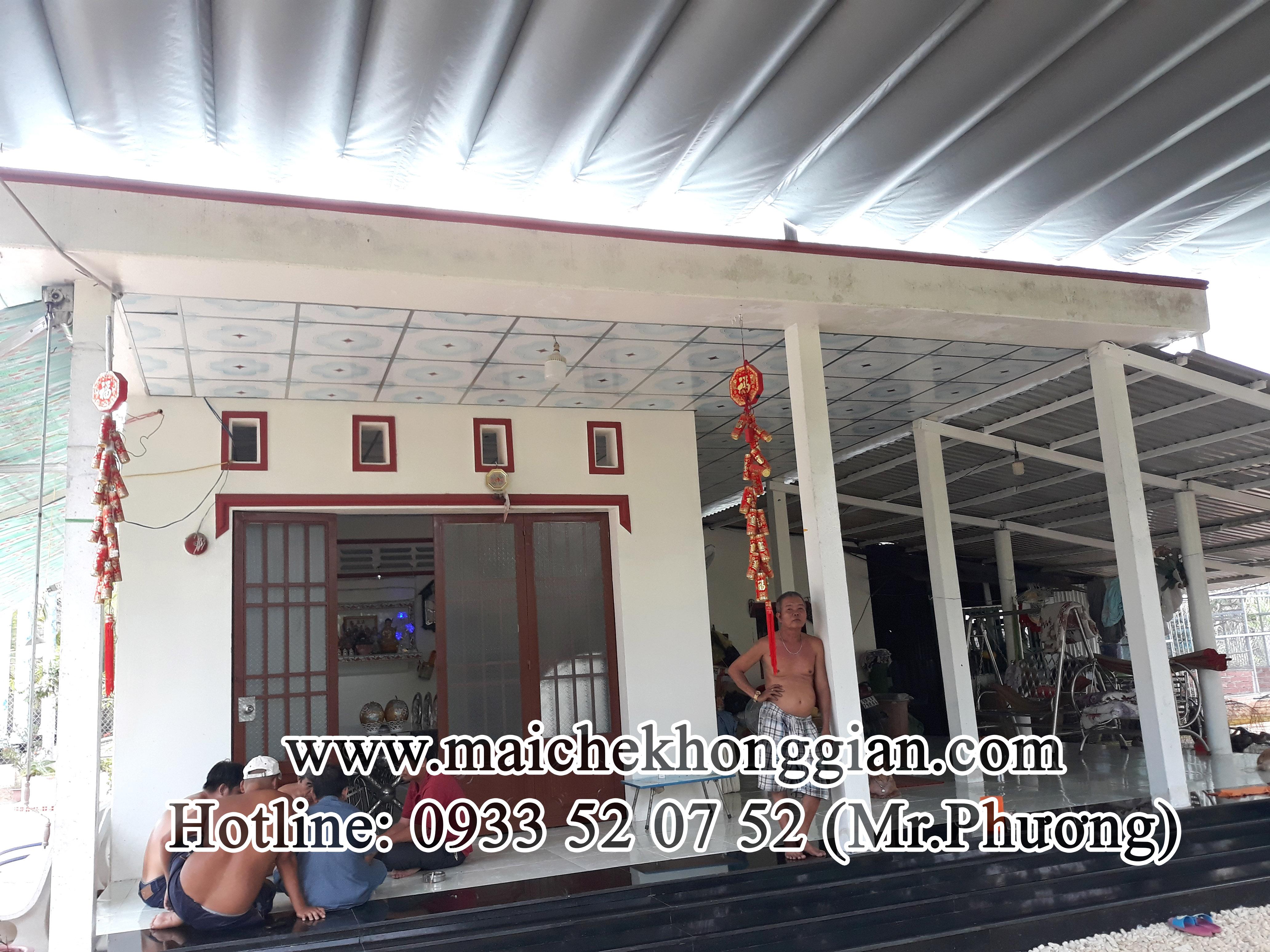 Thay bạt mái che Huyện Long hồ Vĩnh Long