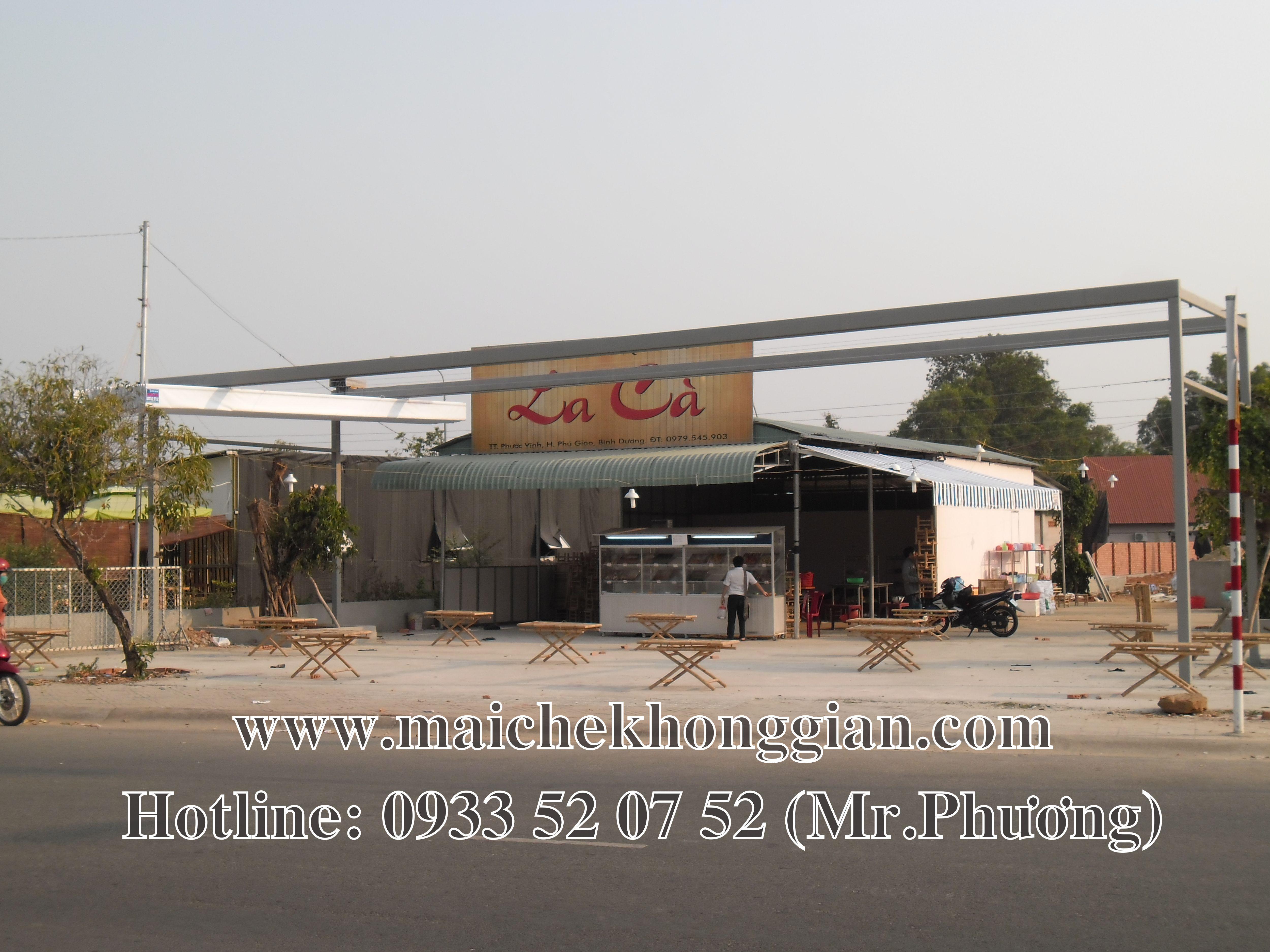 Mái che quán ăn Tân Thạnh Long An