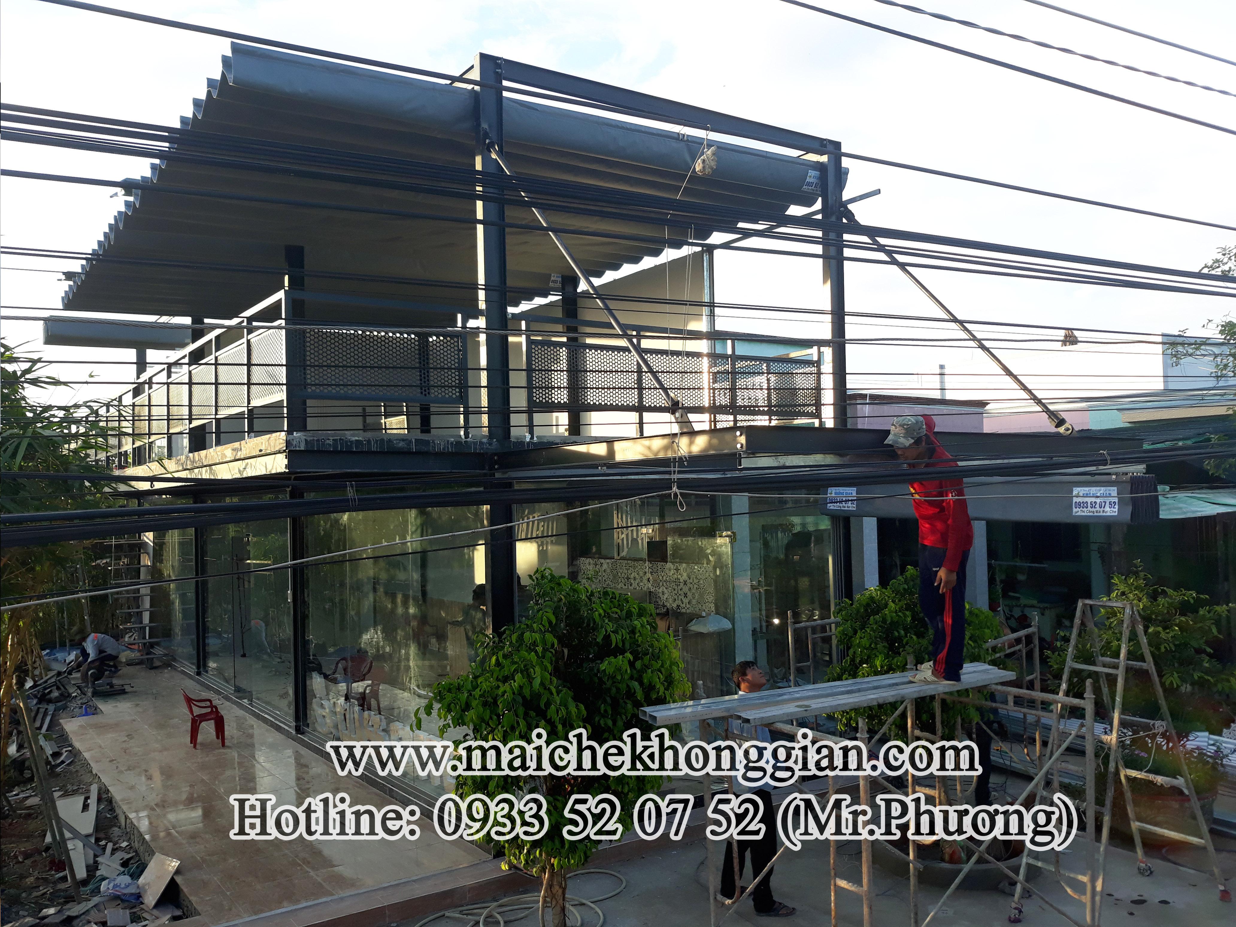 Mái che quán cà phê Tân Thạnh Long An