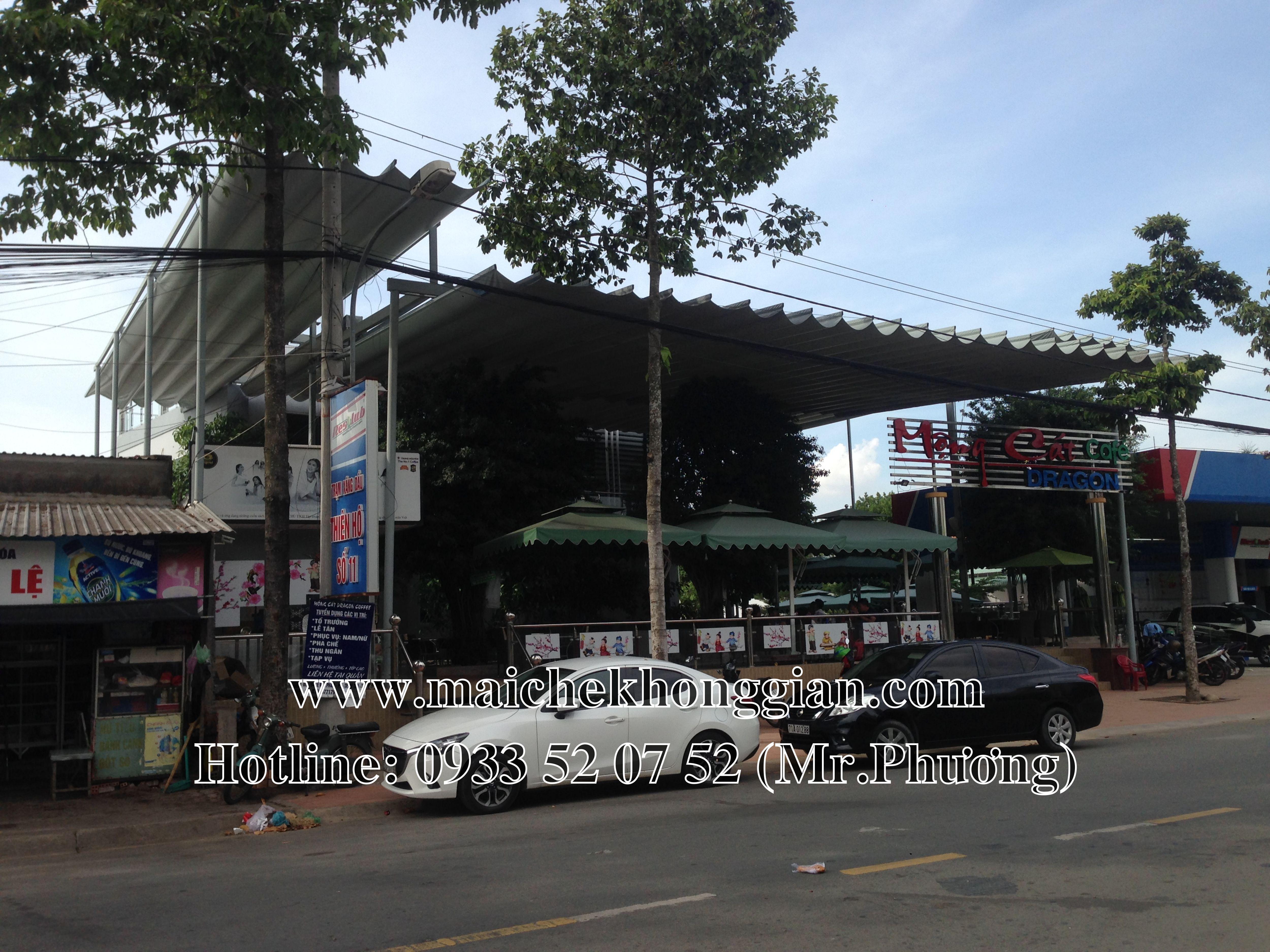 Thay bạt mái che Thị xã Ngã Bảy Hậu Giang