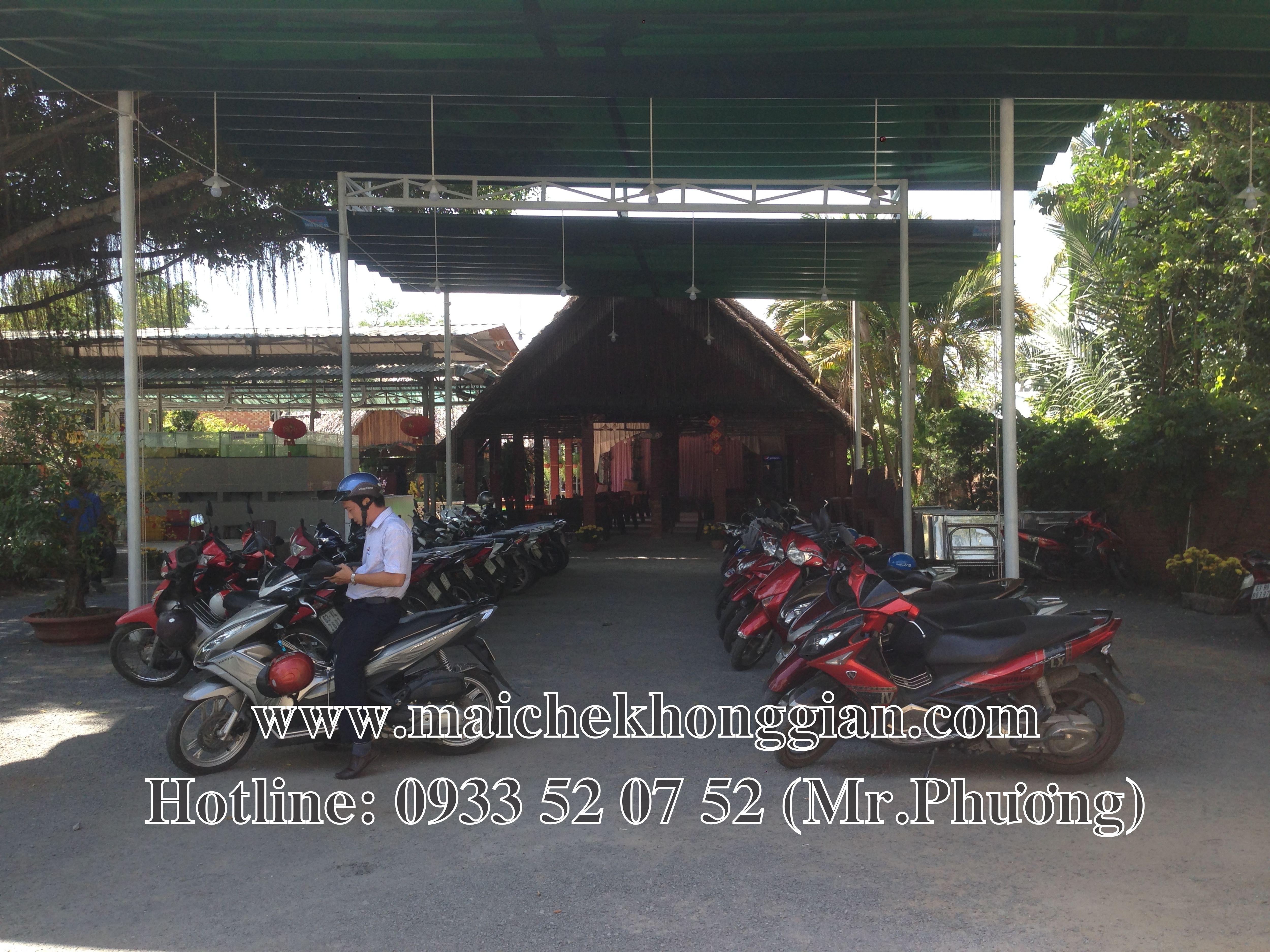 Mái Che Nhà Xe Huyện Bình Minh Vĩnh Long