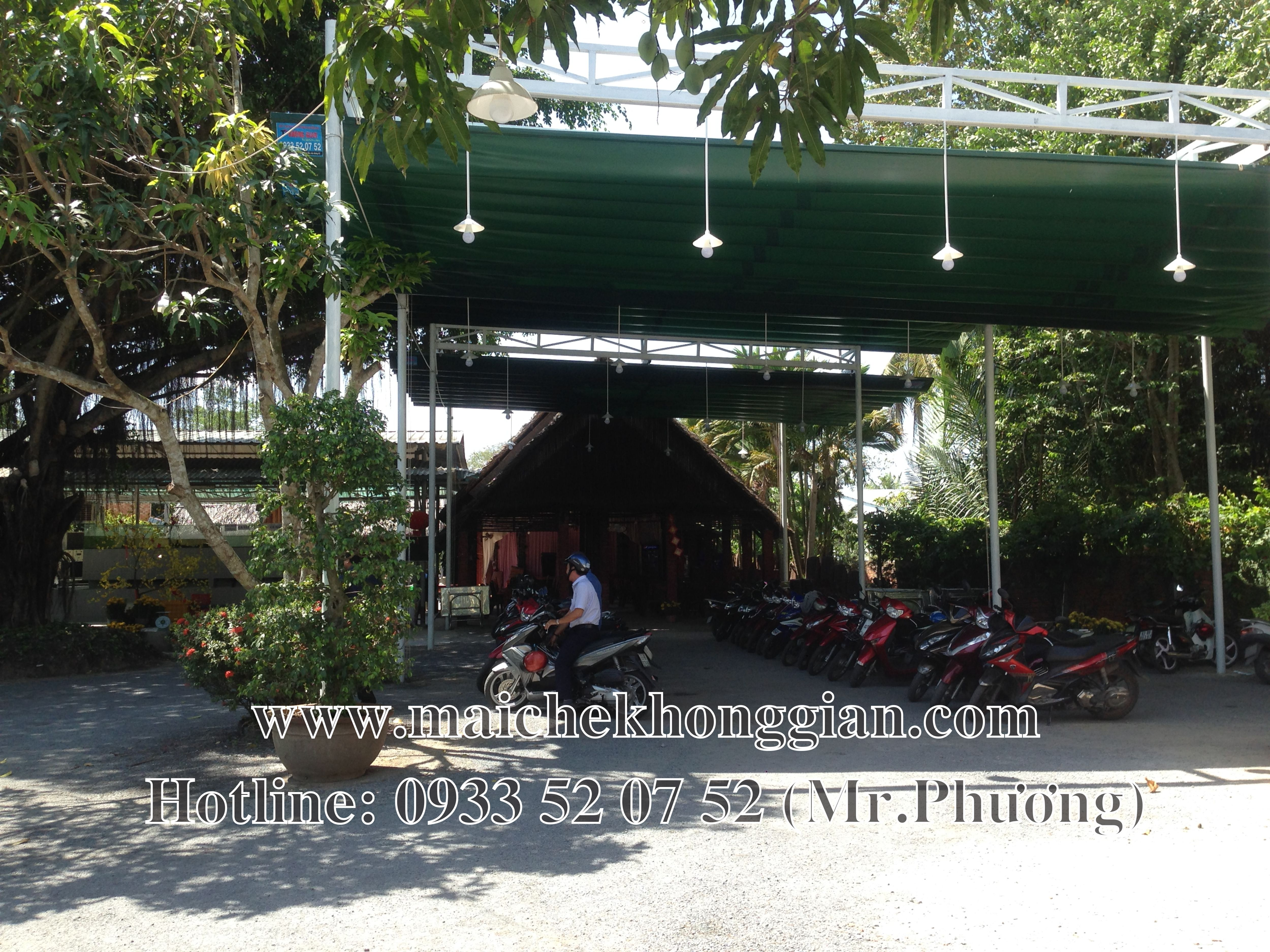 Mái Che Nhà Xe Huyện Trà Ôn Vĩnh Long