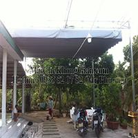 Công Trình: Mái Che, Mái Che Bạt Xếp-Tại nhà CHÚ 10 Dừa. (ĐC:Cầu Bà Lắc, Chùa An Nghĩa, Cái Bè Tiền Giang).