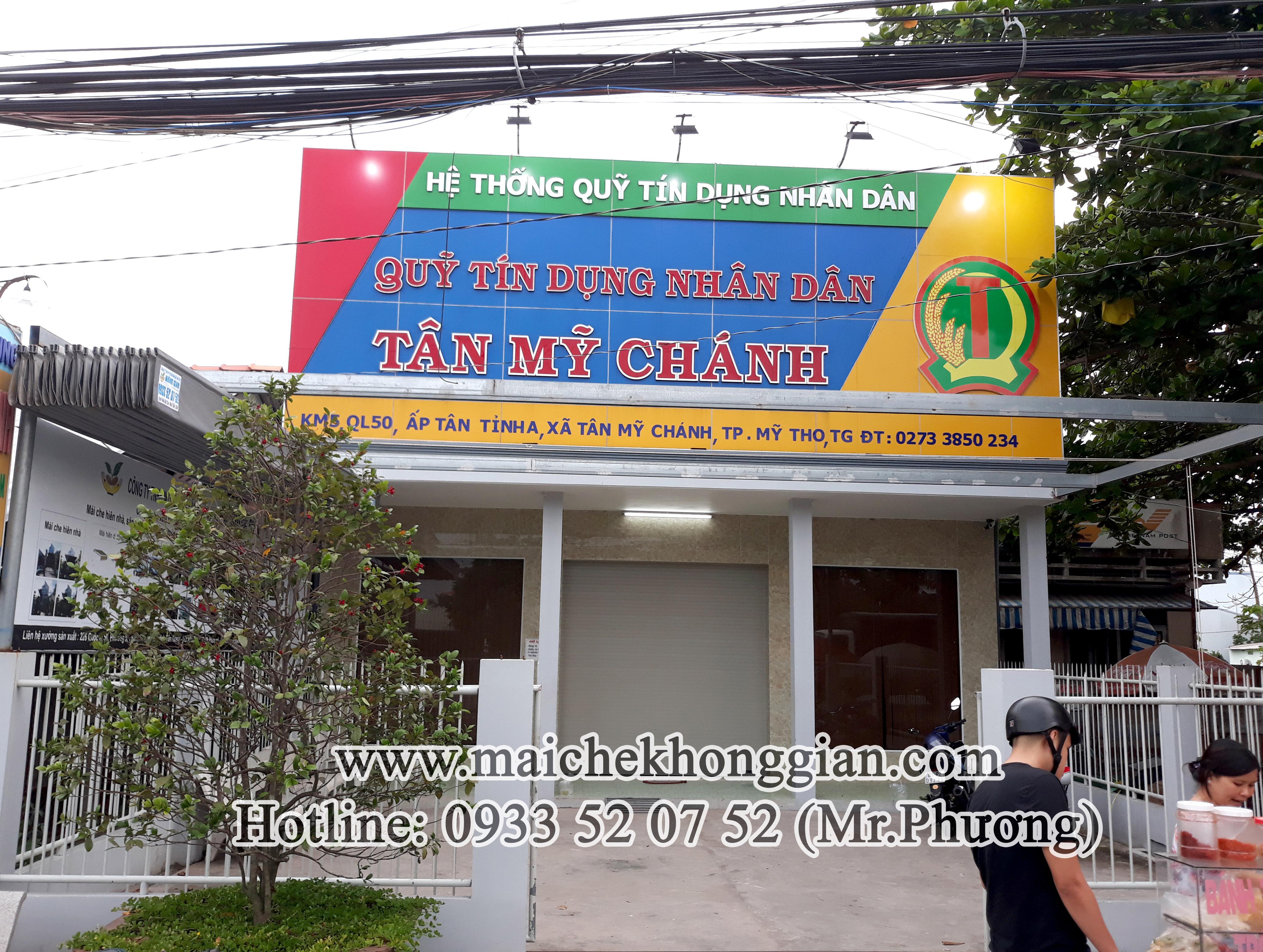 Mái Che Ngân Hàng Huyện Cù Lao Dung Sóc Trăng