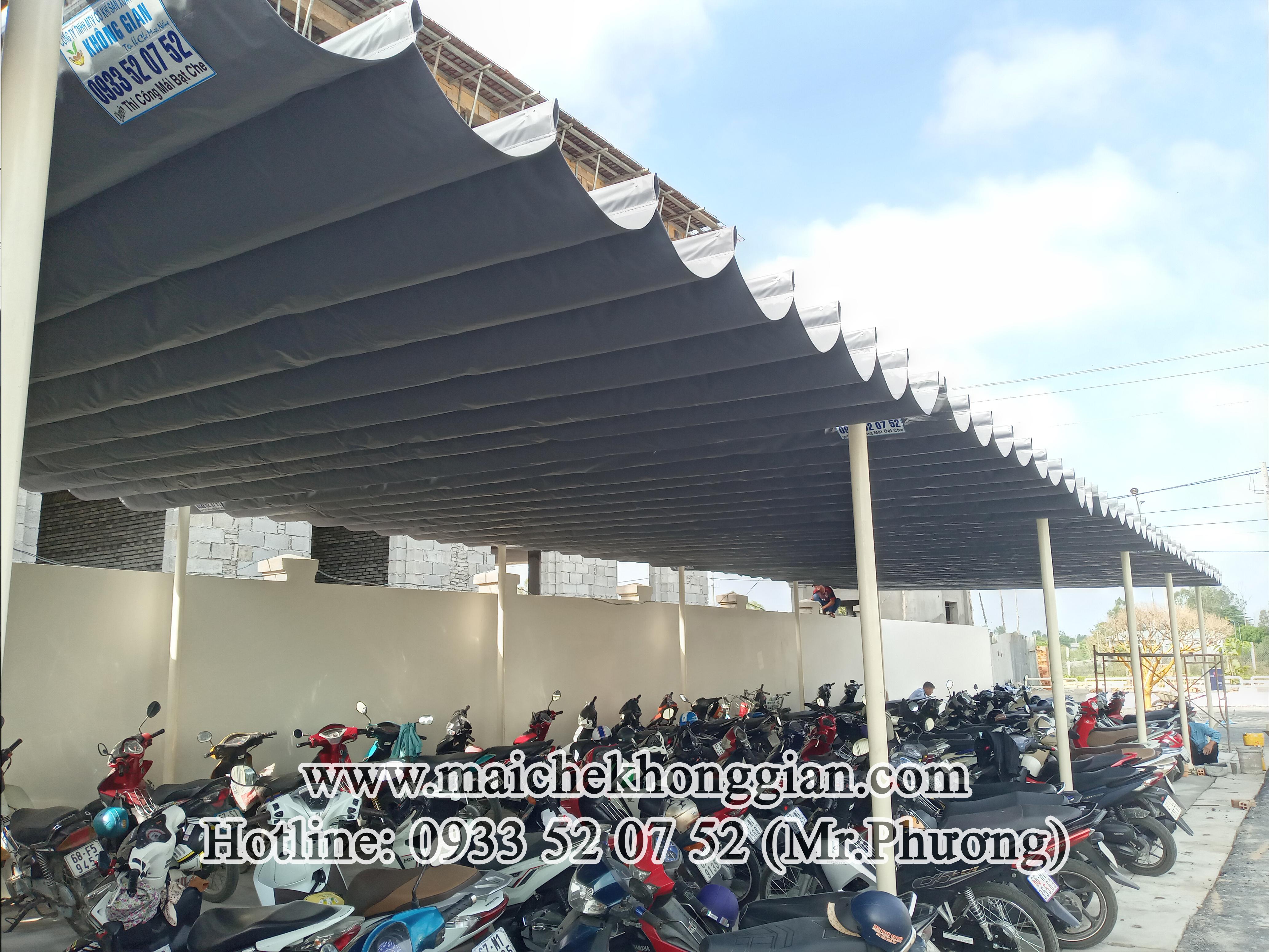 Mái che nhà để xe Tân Hưng Long An